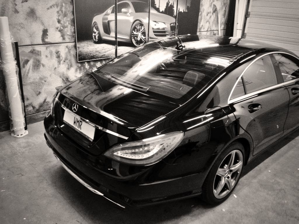 Mercedes CLS met White Satin Pearl Wrap, Carwrapping door Wrapmyride.nu Foto-nr:6176, ©2020