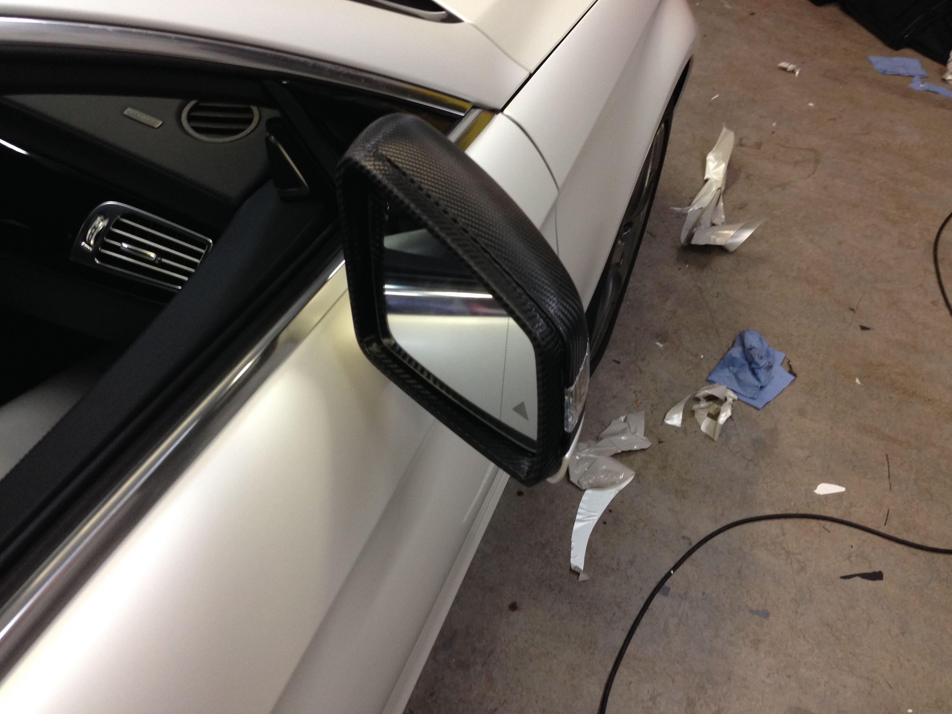 Mercedes CLS met White Satin Pearl Wrap, Carwrapping door Wrapmyride.nu Foto-nr:6187, ©2021