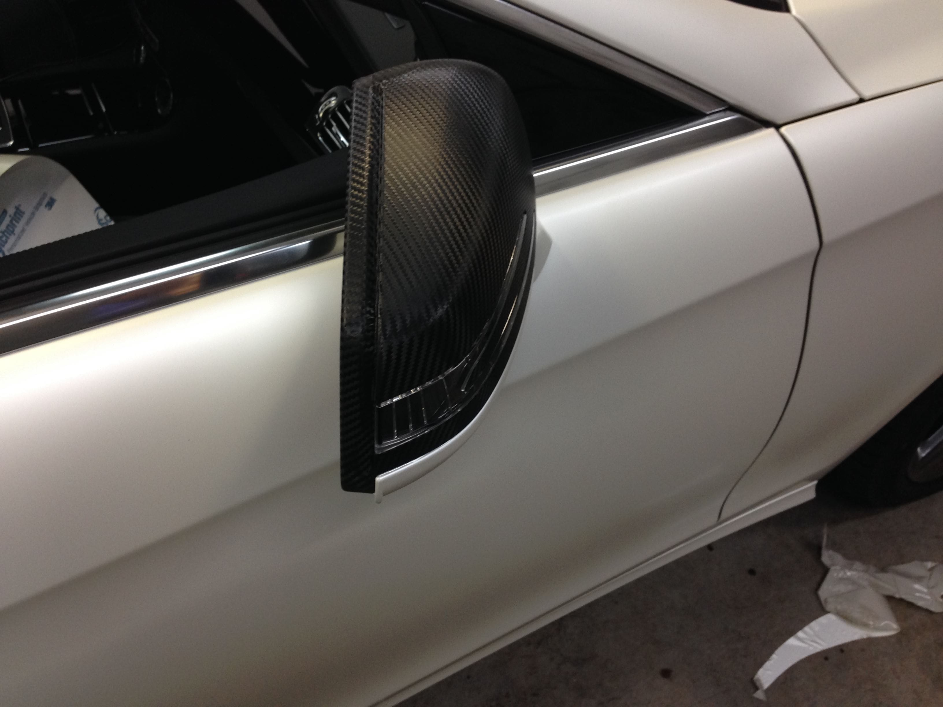 Mercedes CLS met White Satin Pearl Wrap, Carwrapping door Wrapmyride.nu Foto-nr:6188, ©2020