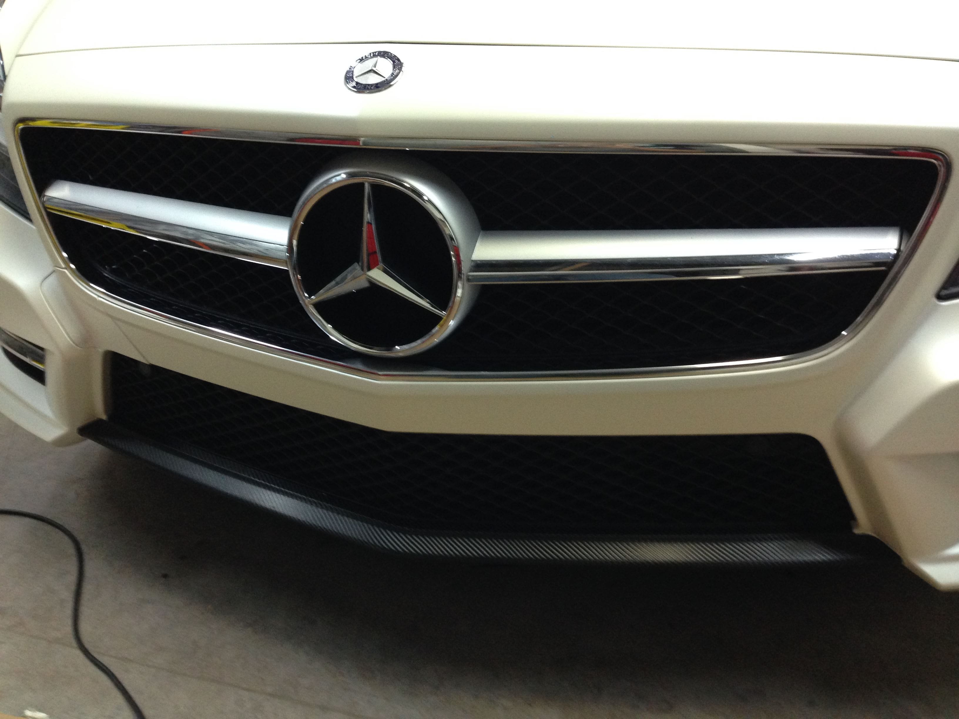 Mercedes CLS met White Satin Pearl Wrap, Carwrapping door Wrapmyride.nu Foto-nr:6196, ©2020
