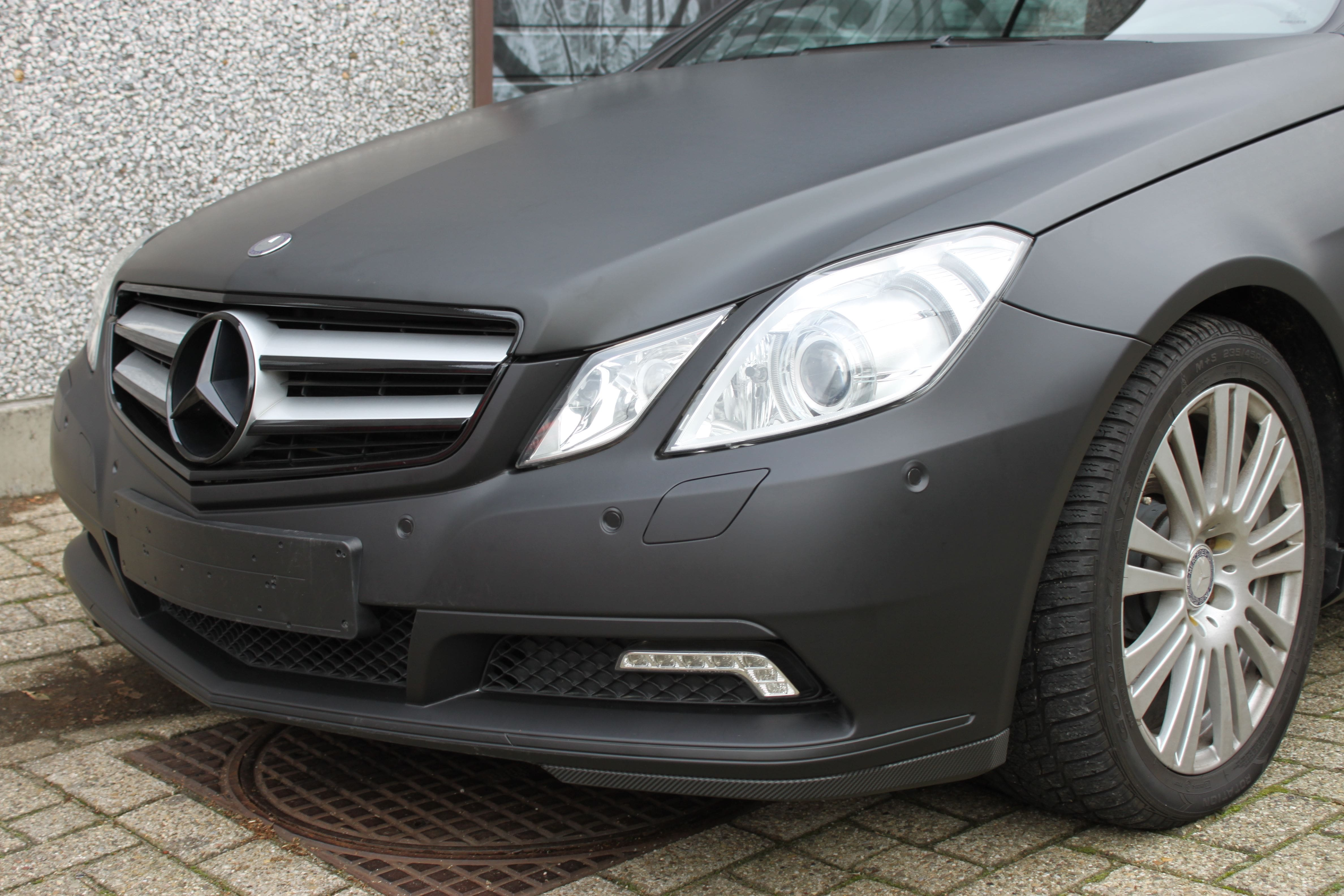 Mercedes E-coupe mat zwart, Carwrapping door Wrapmyride.nu Foto-nr:9328, ©2020