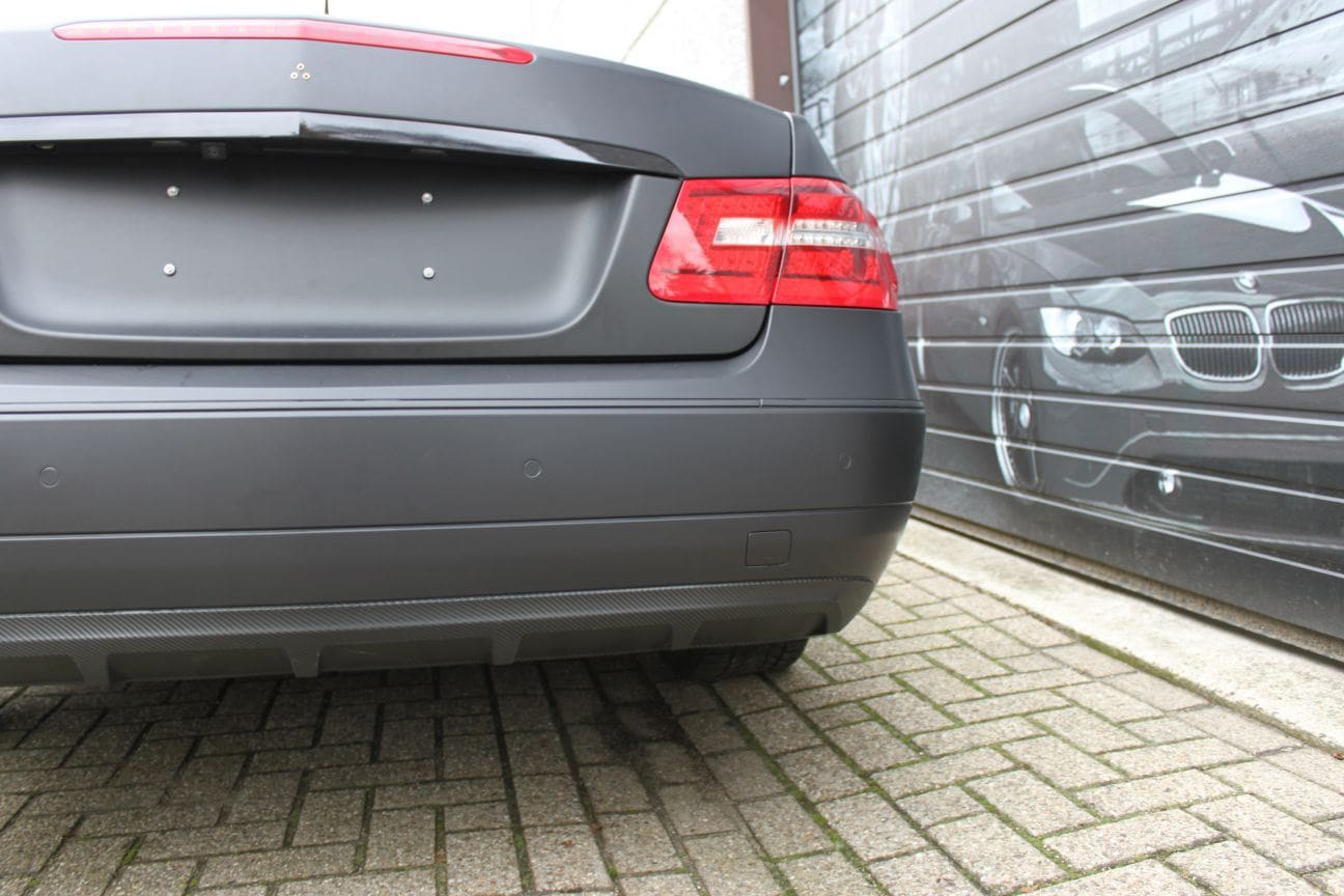 Mercedes E-coupe mat zwart, Carwrapping door Wrapmyride.nu Foto-nr:9337, ©2018