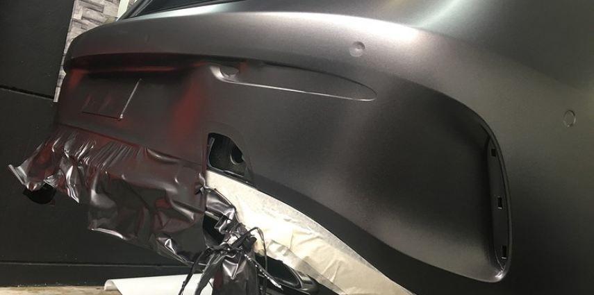 Mercedes E-coupe Satin Dark Grey