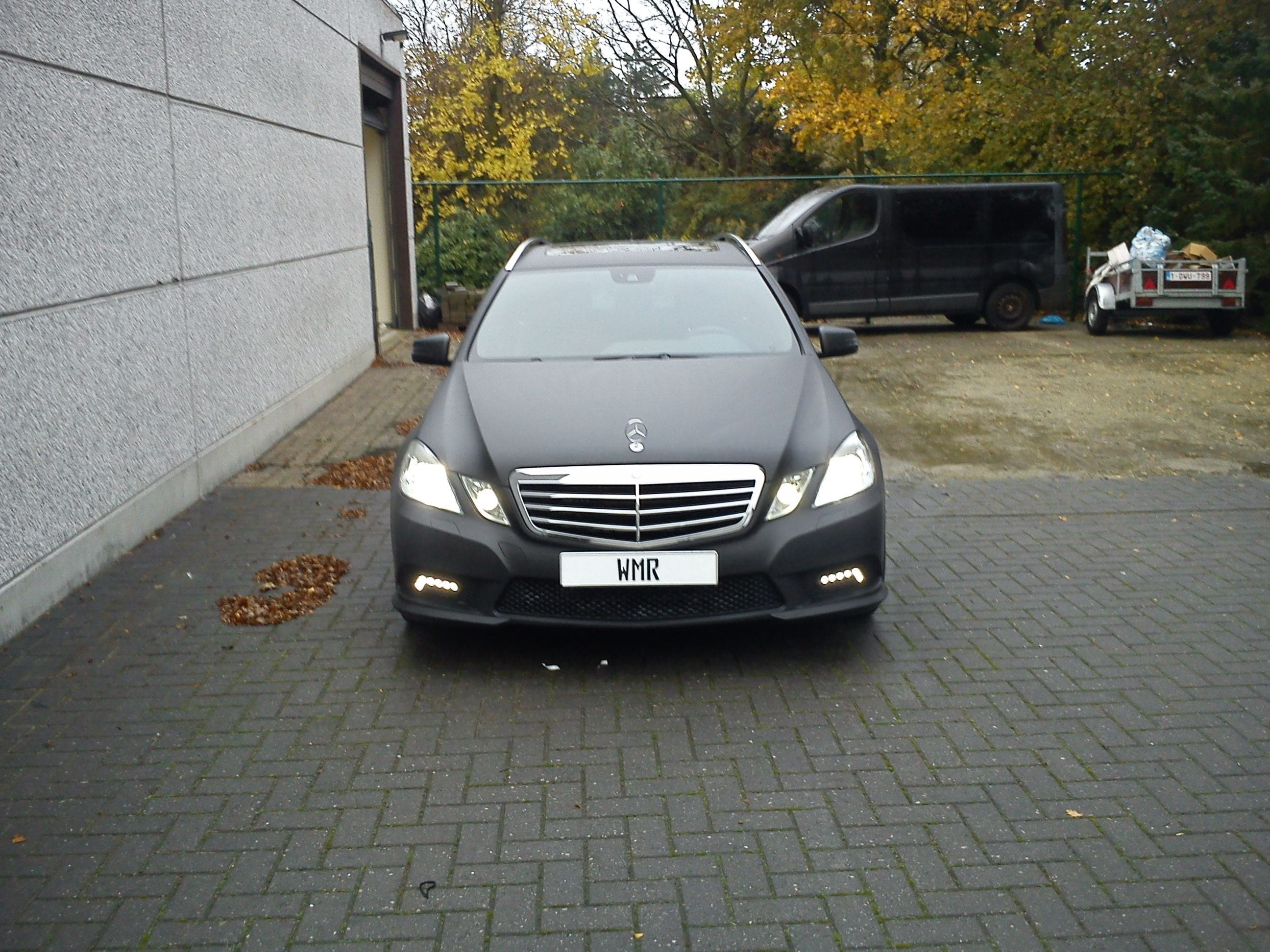 Mercedes E320 met Mat Zwarte Wrap, Carwrapping door Wrapmyride.nu Foto-nr:6225, ©2020