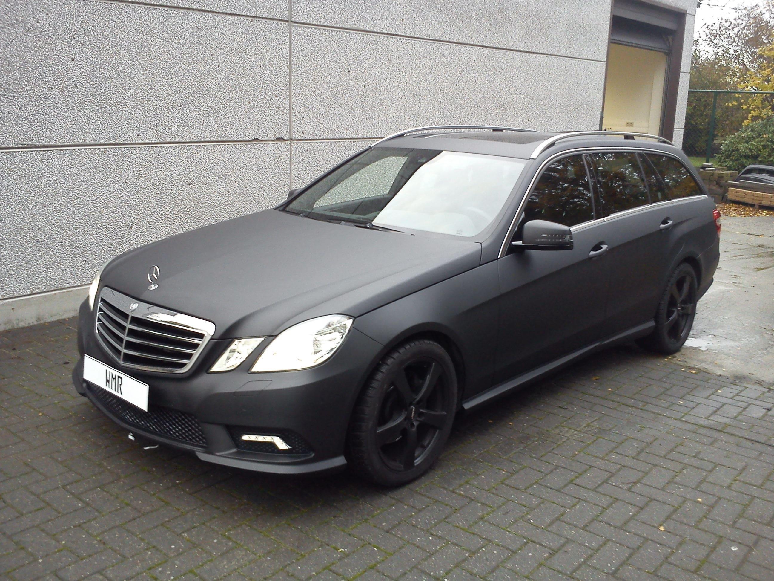 Mercedes E320 met Mat Zwarte Wrap, Carwrapping door Wrapmyride.nu Foto-nr:6227, ©2020