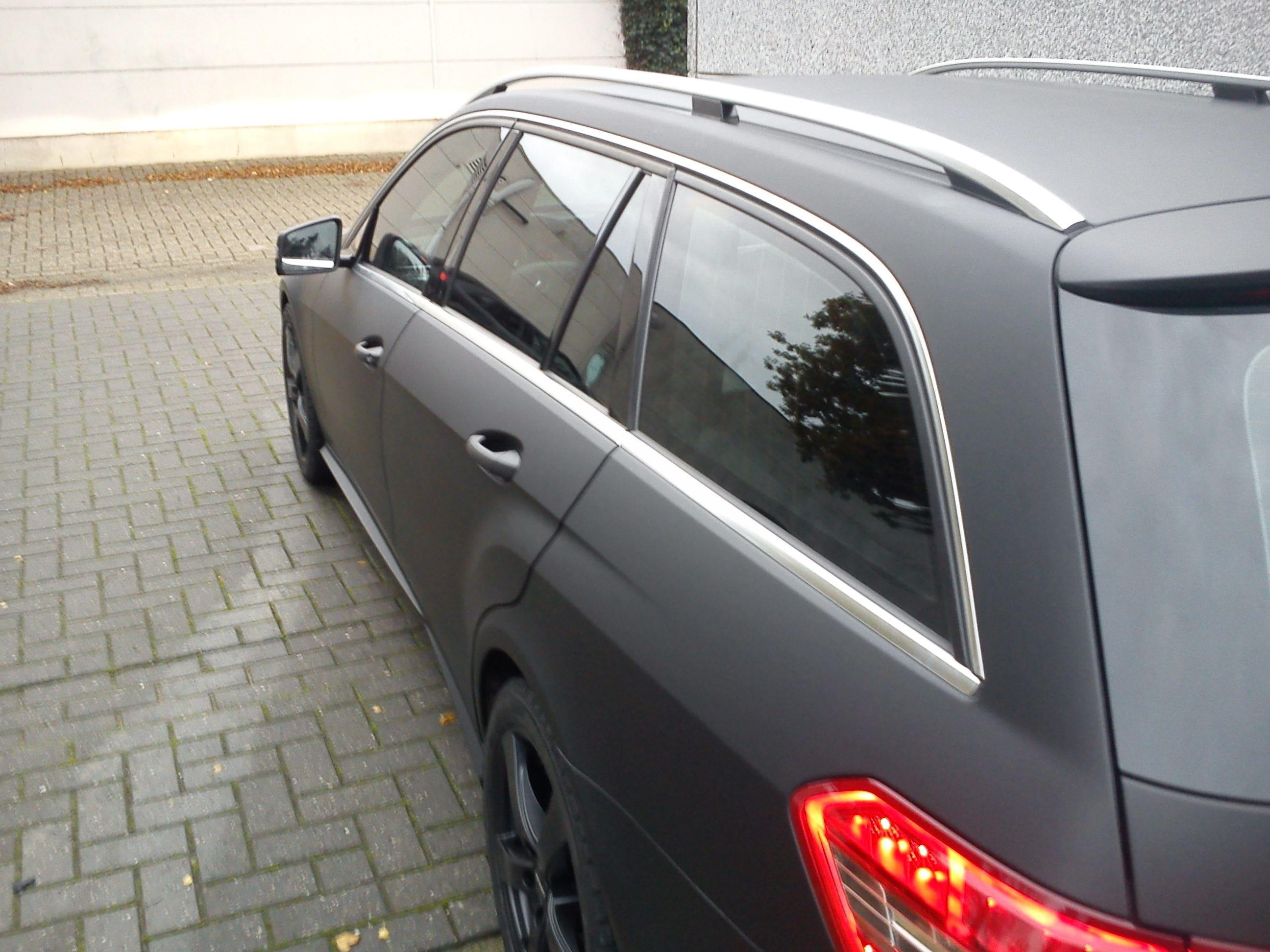 Mercedes E320 met Mat Zwarte Wrap, Carwrapping door Wrapmyride.nu Foto-nr:6230, ©2020