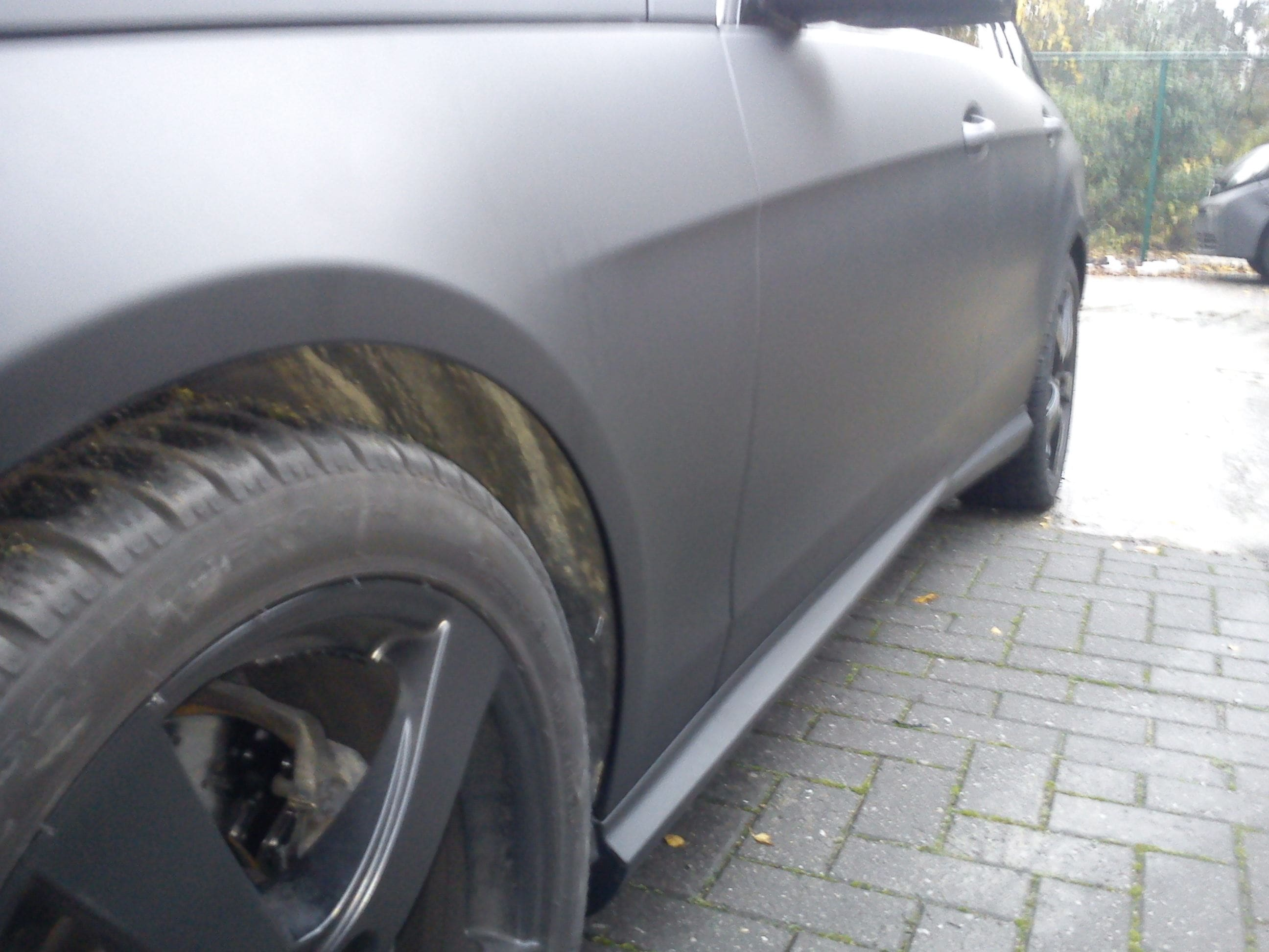 Mercedes E320 met Mat Zwarte Wrap, Carwrapping door Wrapmyride.nu Foto-nr:6233, ©2020