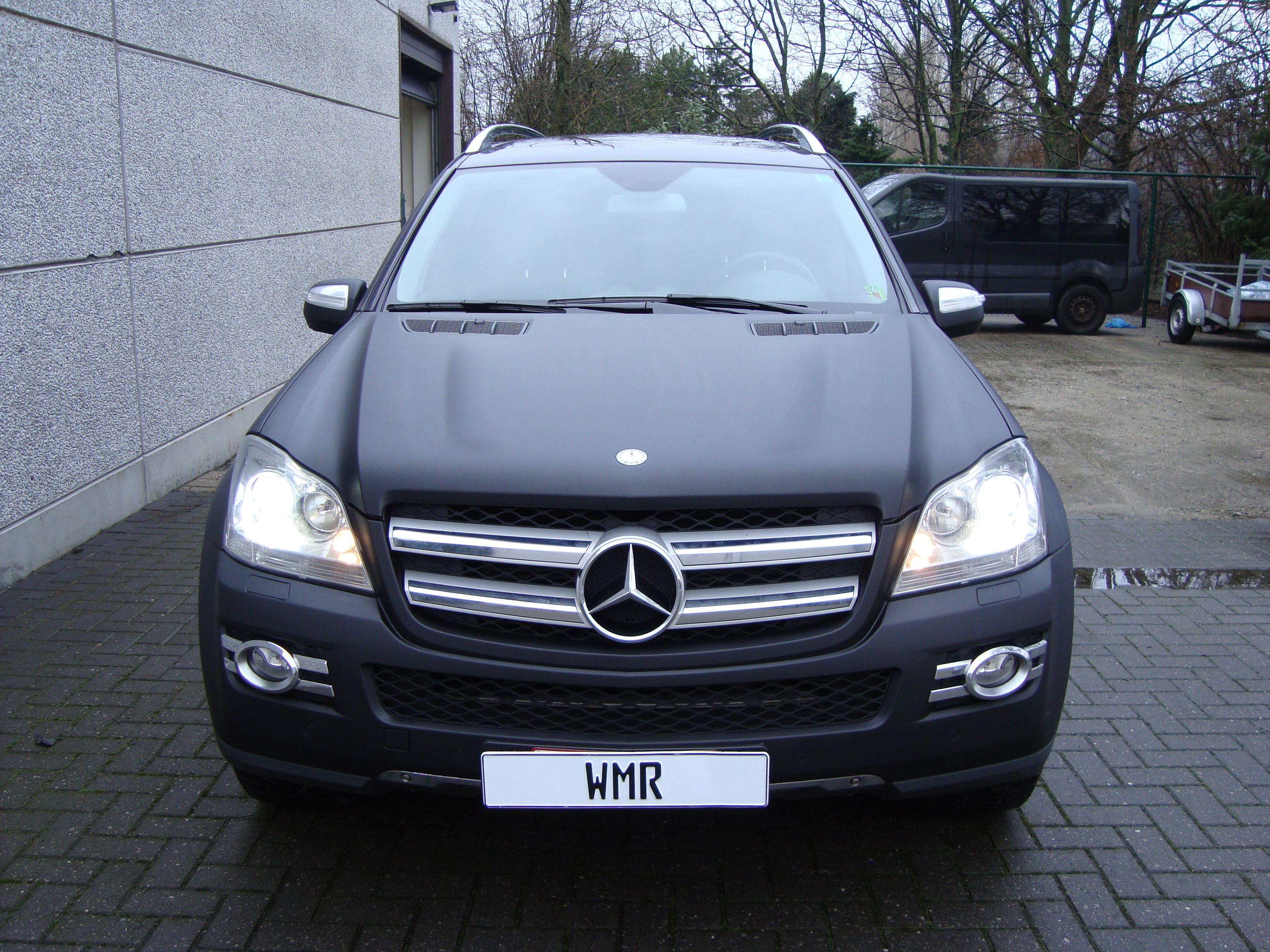 Mercedes GL met Mat Zwarte Wrap, Carwrapping door Wrapmyride.nu Foto-nr:6279, ©2020