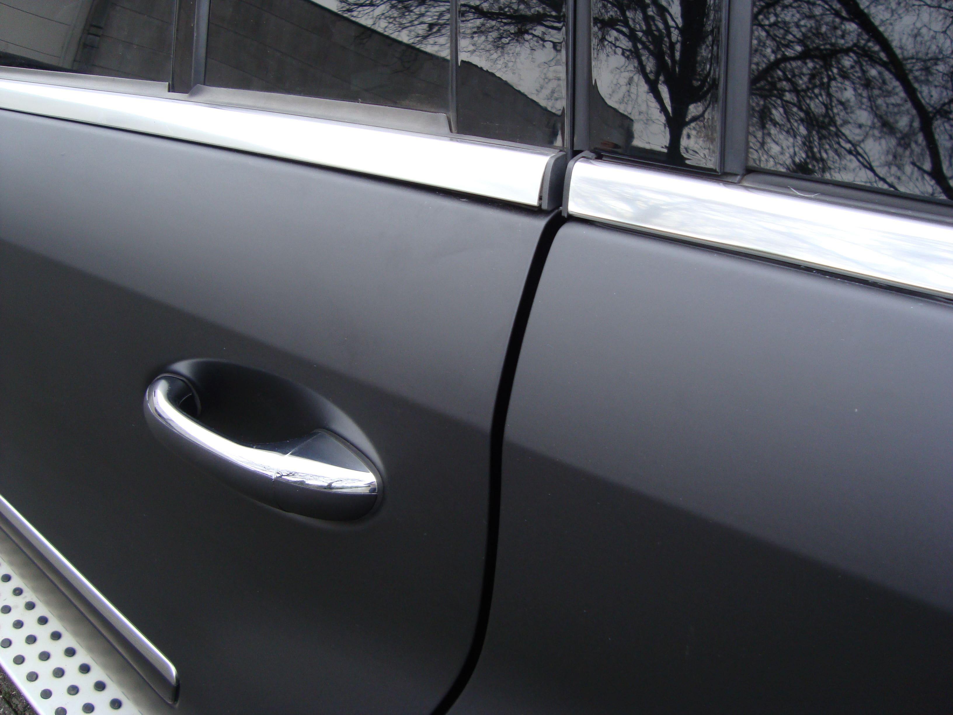 Mercedes GL met Mat Zwarte Wrap, Carwrapping door Wrapmyride.nu Foto-nr:6283, ©2020