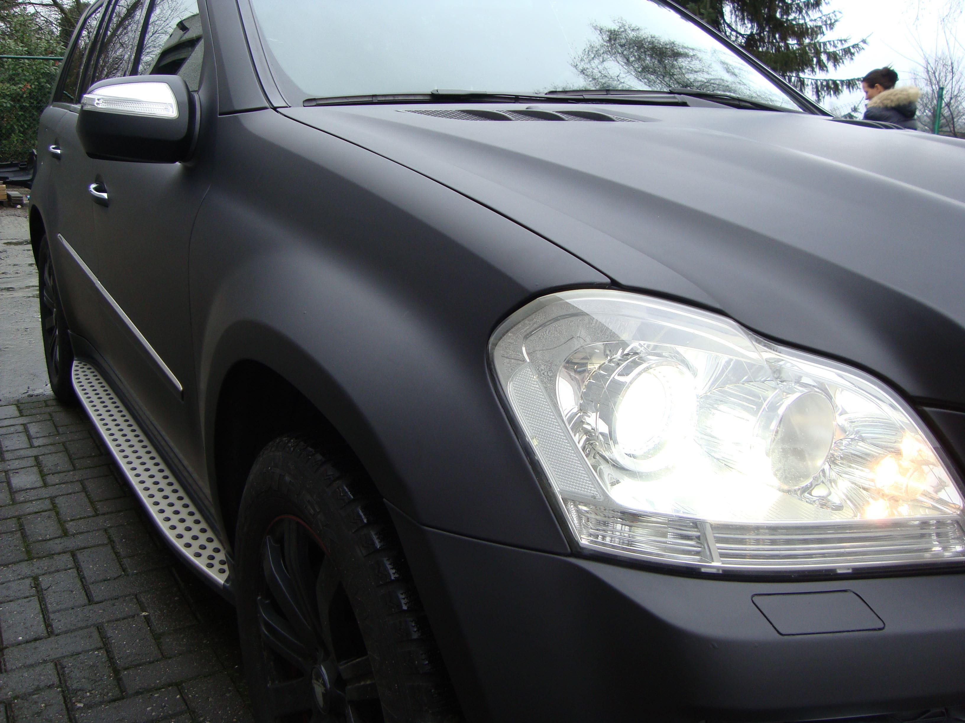 Mercedes GL met Mat Zwarte Wrap, Carwrapping door Wrapmyride.nu Foto-nr:6285, ©2020