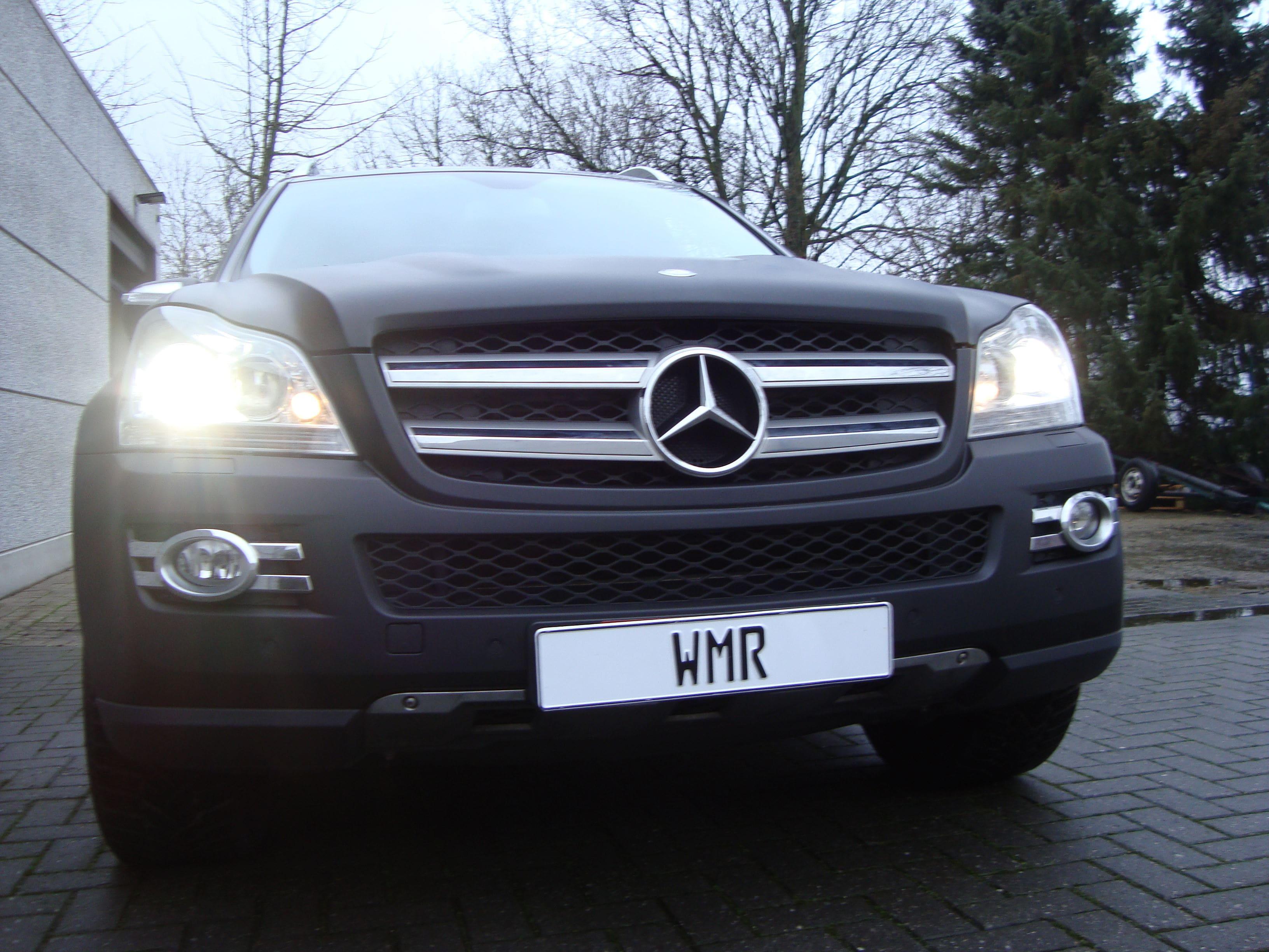 Mercedes GL met Mat Zwarte Wrap, Carwrapping door Wrapmyride.nu Foto-nr:6287, ©2020