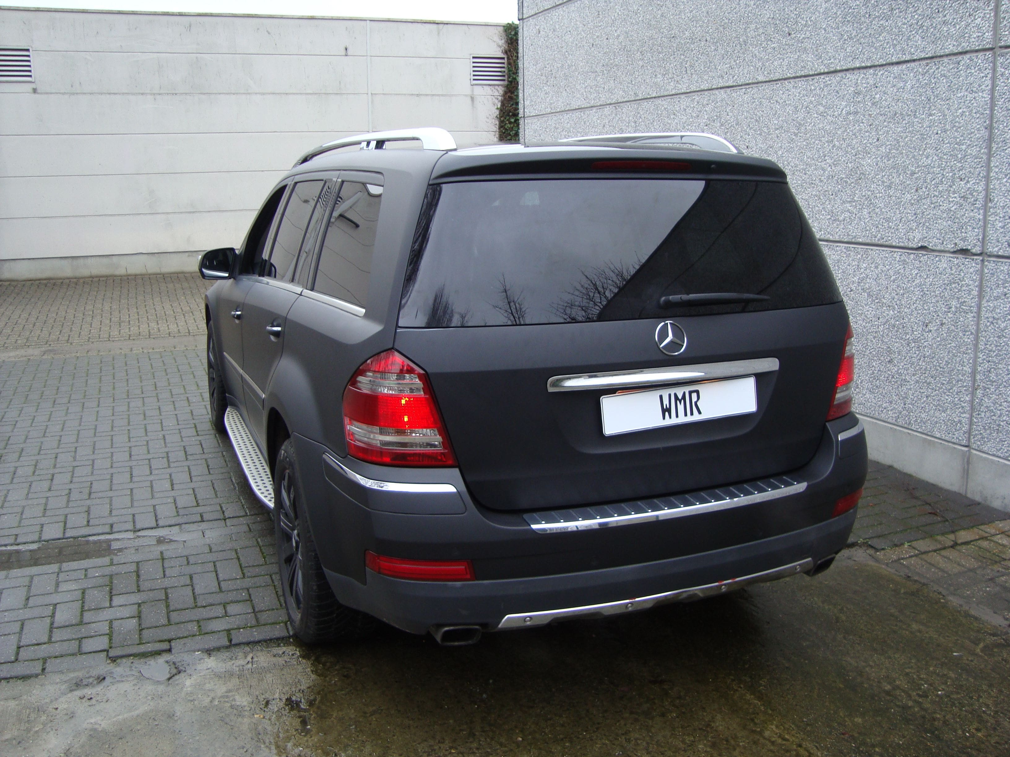Mercedes GL met Mat Zwarte Wrap, Carwrapping door Wrapmyride.nu Foto-nr:6288, ©2020
