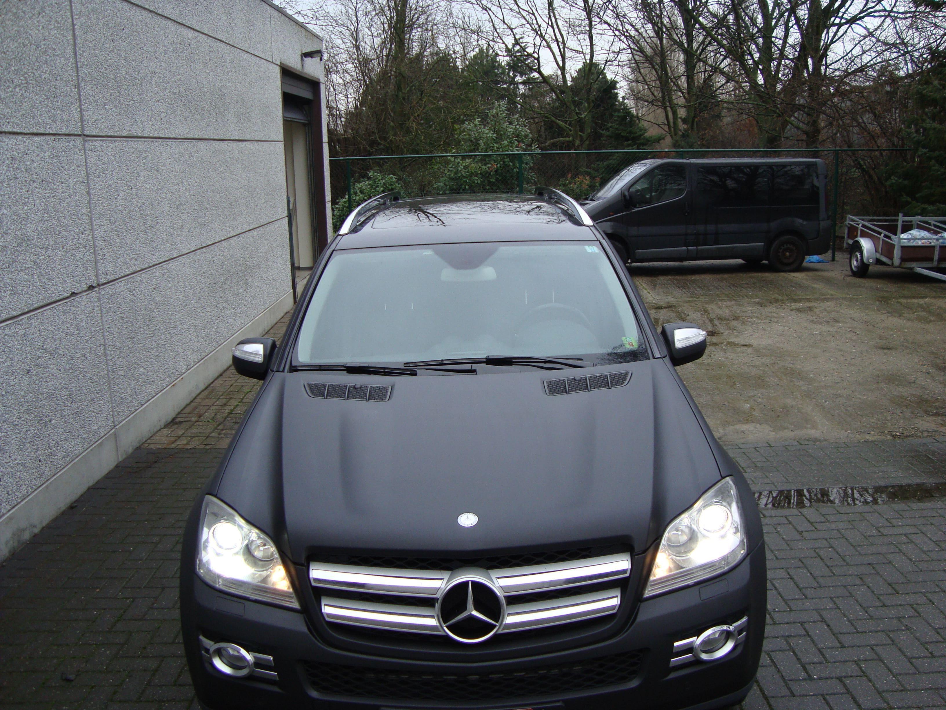 Mercedes GL met Mat Zwarte Wrap, Carwrapping door Wrapmyride.nu Foto-nr:6292, ©2020