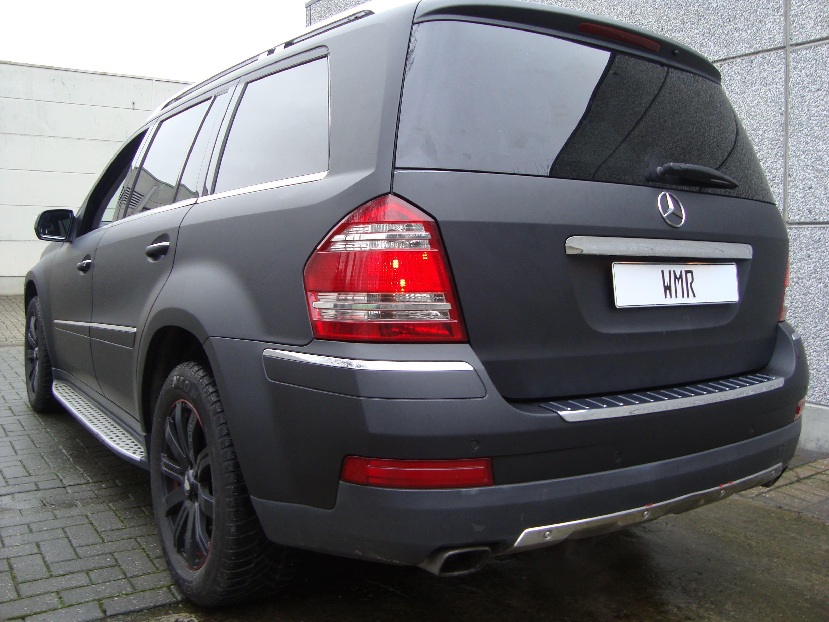 Mercedes GL met Mat Zwarte Wrap, Carwrapping door Wrapmyride.nu Foto-nr:6294, ©2020