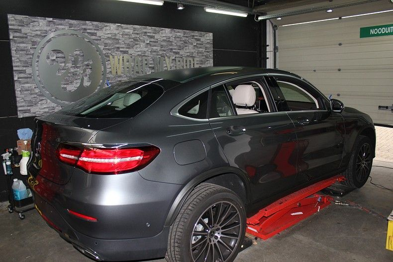 Mercedes GLC 3M Matte Pine Green, Carwrapping door Wrapmyride.nu Foto-nr:11827, ©2021