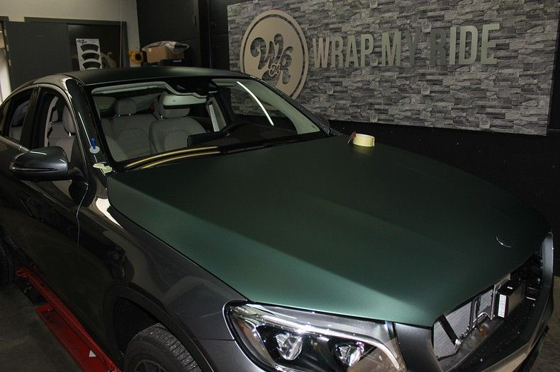Mercedes GLC 3M Matte Pine Green, Carwrapping door Wrapmyride.nu Foto-nr:11828, ©2021
