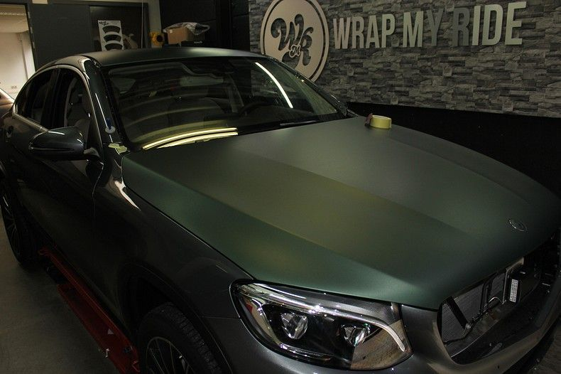 Mercedes GLC 3M Matte Pine Green, Carwrapping door Wrapmyride.nu Foto-nr:11829, ©2021