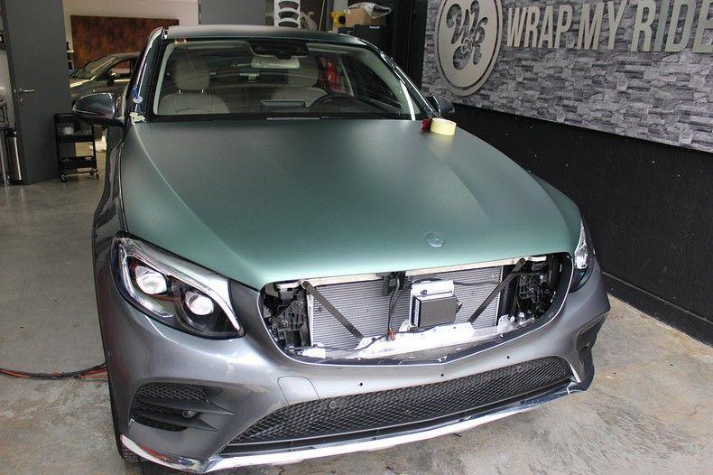 Mercedes GLC 3M Matte Pine Green, Carwrapping door Wrapmyride.nu Foto-nr:11830, ©2021