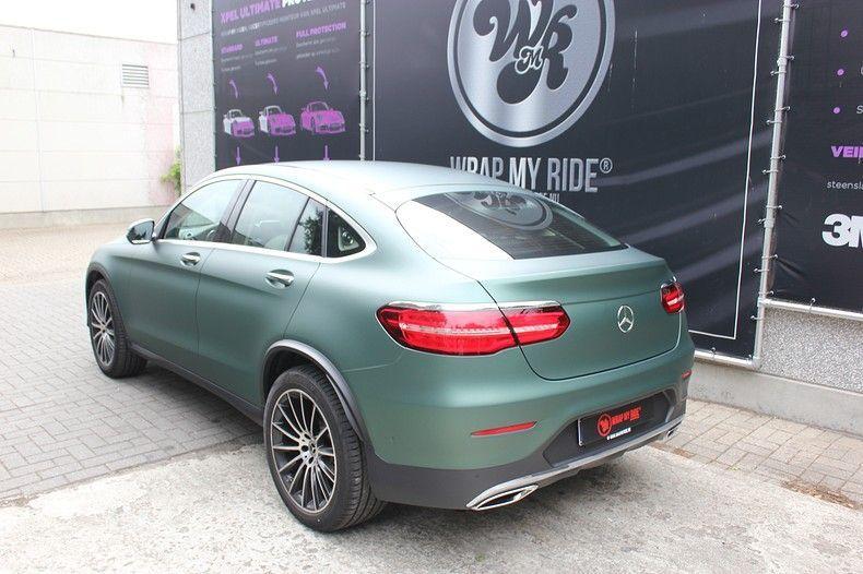 Mercedes GLC 3M Matte Pine Green, Carwrapping door Wrapmyride.nu Foto-nr:11836, ©2021