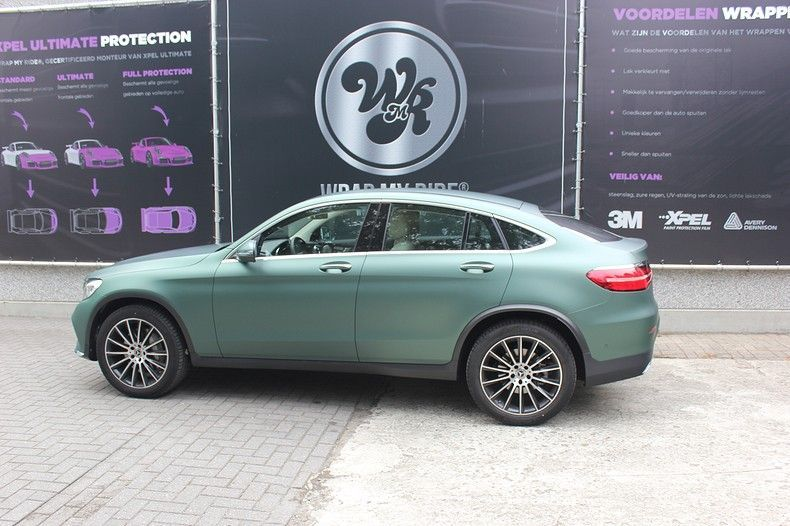 Mercedes GLC 3M Matte Pine Green, Carwrapping door Wrapmyride.nu Foto-nr:11838, ©2021