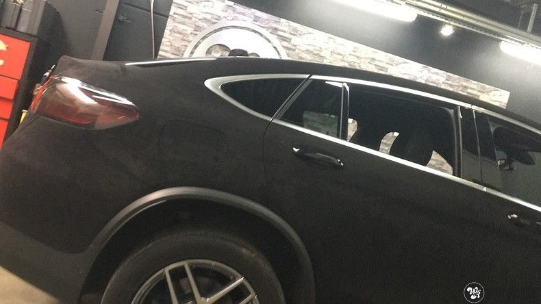 Mercedes GLC alcantara gold, Carwrapping door Wrapmyride.nu Foto-nr:11534, ©2018