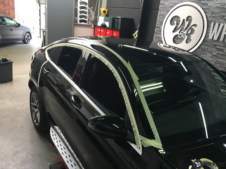 Mercedes GLC alcantara gold, Carwrapping door Wrapmyride.nu Foto-nr:11545, ©2018