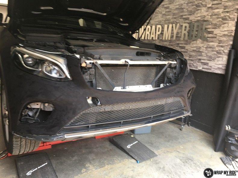 Mercedes GLC alcantara gold, Carwrapping door Wrapmyride.nu Foto-nr:11531, ©2018