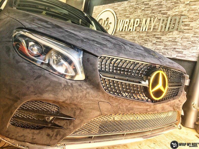 Mercedes GLC alcantara gold, Carwrapping door Wrapmyride.nu Foto-nr:11529, ©2018