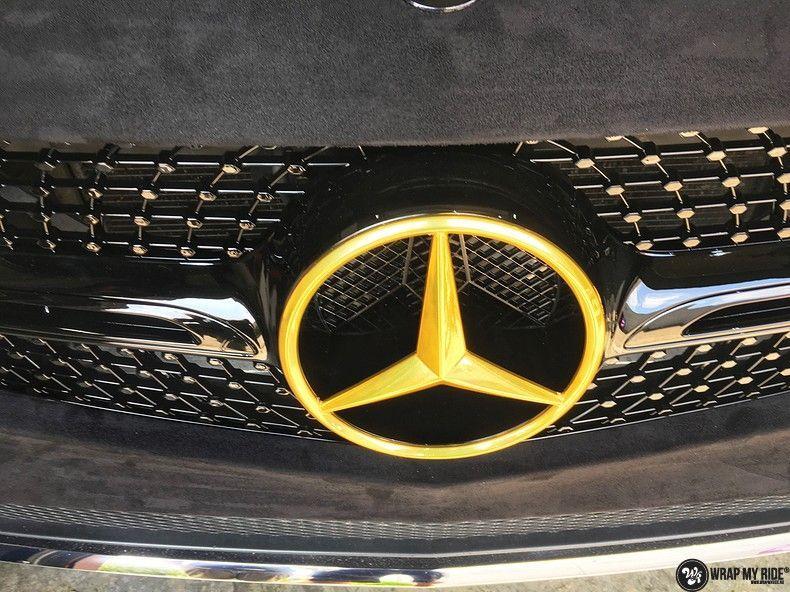 Mercedes GLC alcantara gold, Carwrapping door Wrapmyride.nu Foto-nr:11530, ©2018