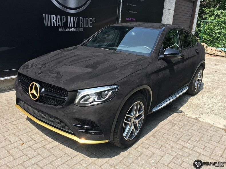 Mercedes GLC alcantara gold, Carwrapping door Wrapmyride.nu Foto-nr:11525, ©2018