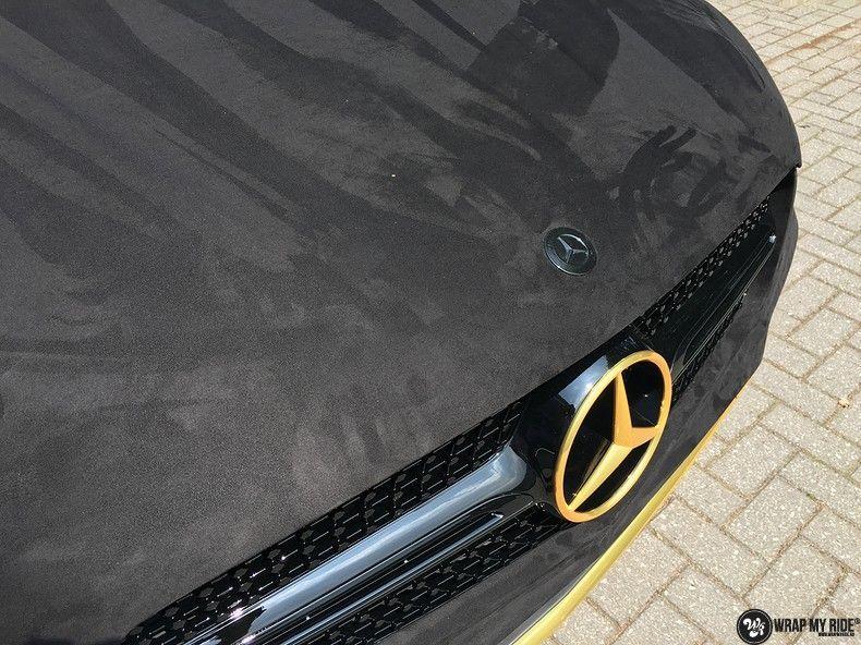 Mercedes GLC alcantara gold, Carwrapping door Wrapmyride.nu Foto-nr:11522, ©2018