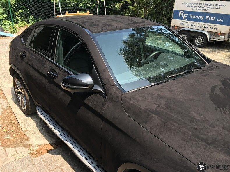 Mercedes GLC alcantara gold, Carwrapping door Wrapmyride.nu Foto-nr:11521, ©2018