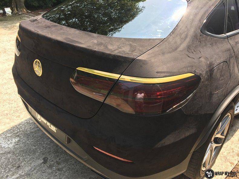 Mercedes GLC alcantara gold, Carwrapping door Wrapmyride.nu Foto-nr:11519, ©2018