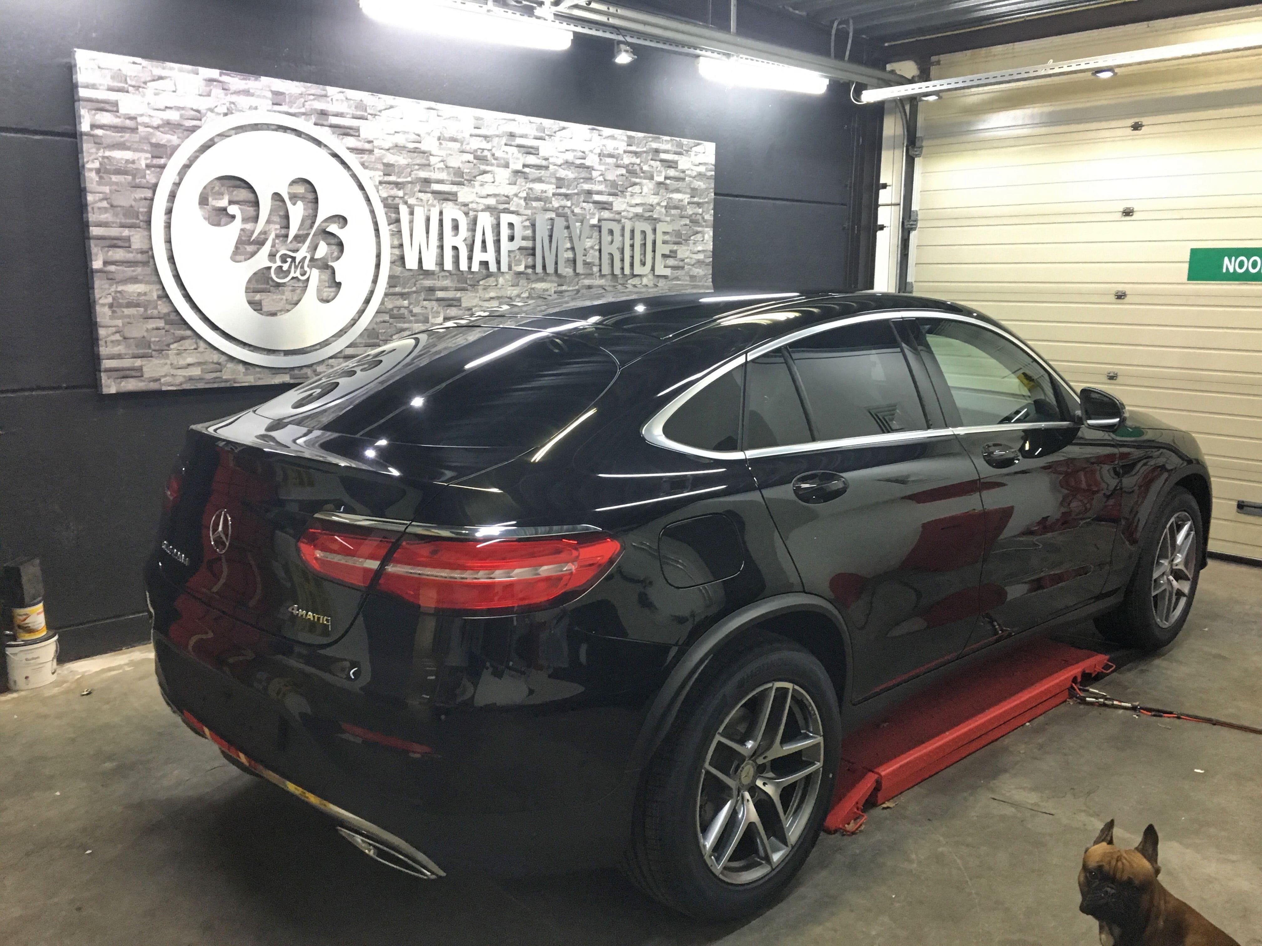 Mercedes GLC Coupe Matte metallic brown, Carwrapping door Wrapmyride.nu Foto-nr:9383, ©2021