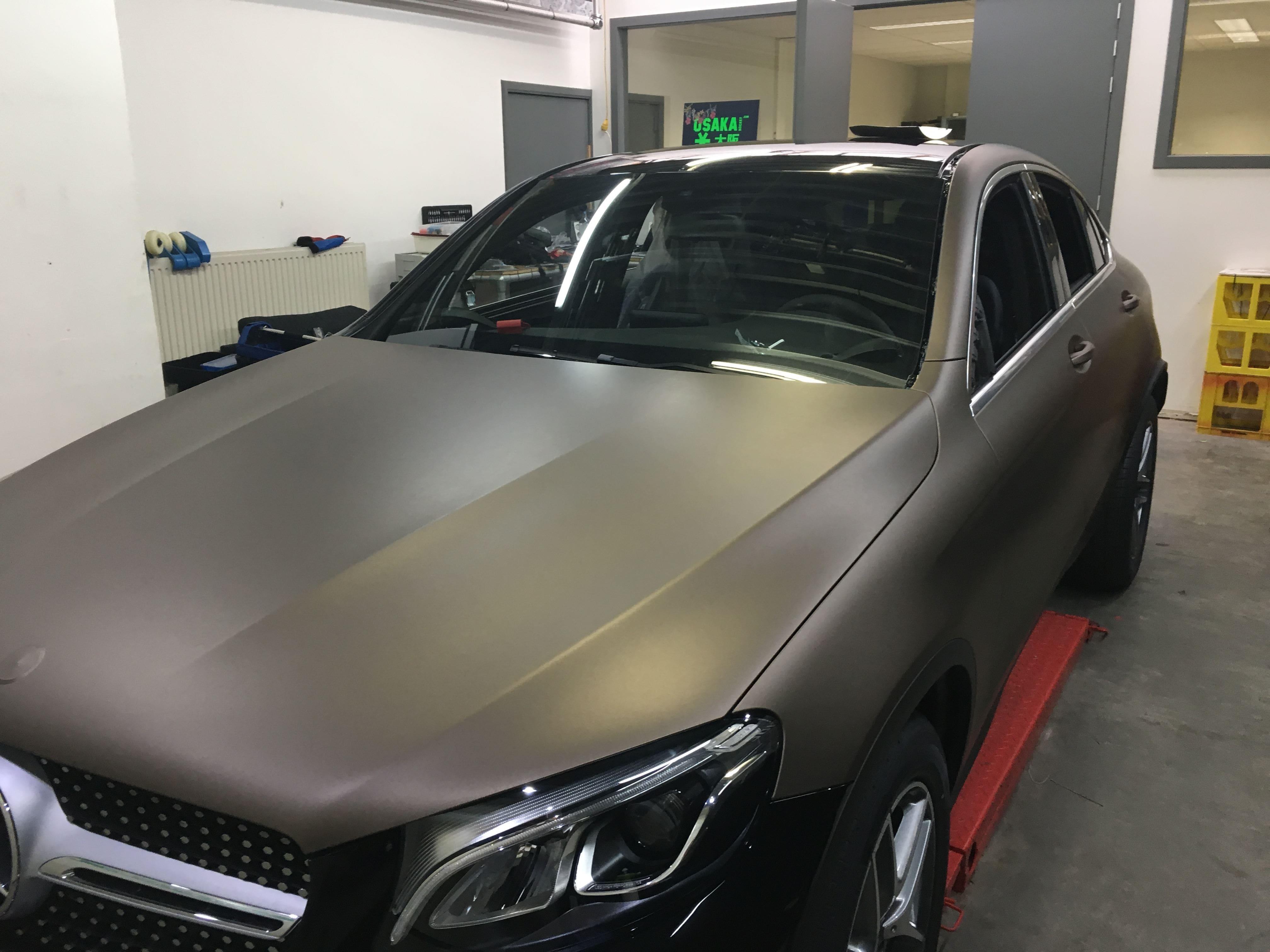Mercedes GLC Coupe Matte metallic brown, Carwrapping door Wrapmyride.nu Foto-nr:9382, ©2021