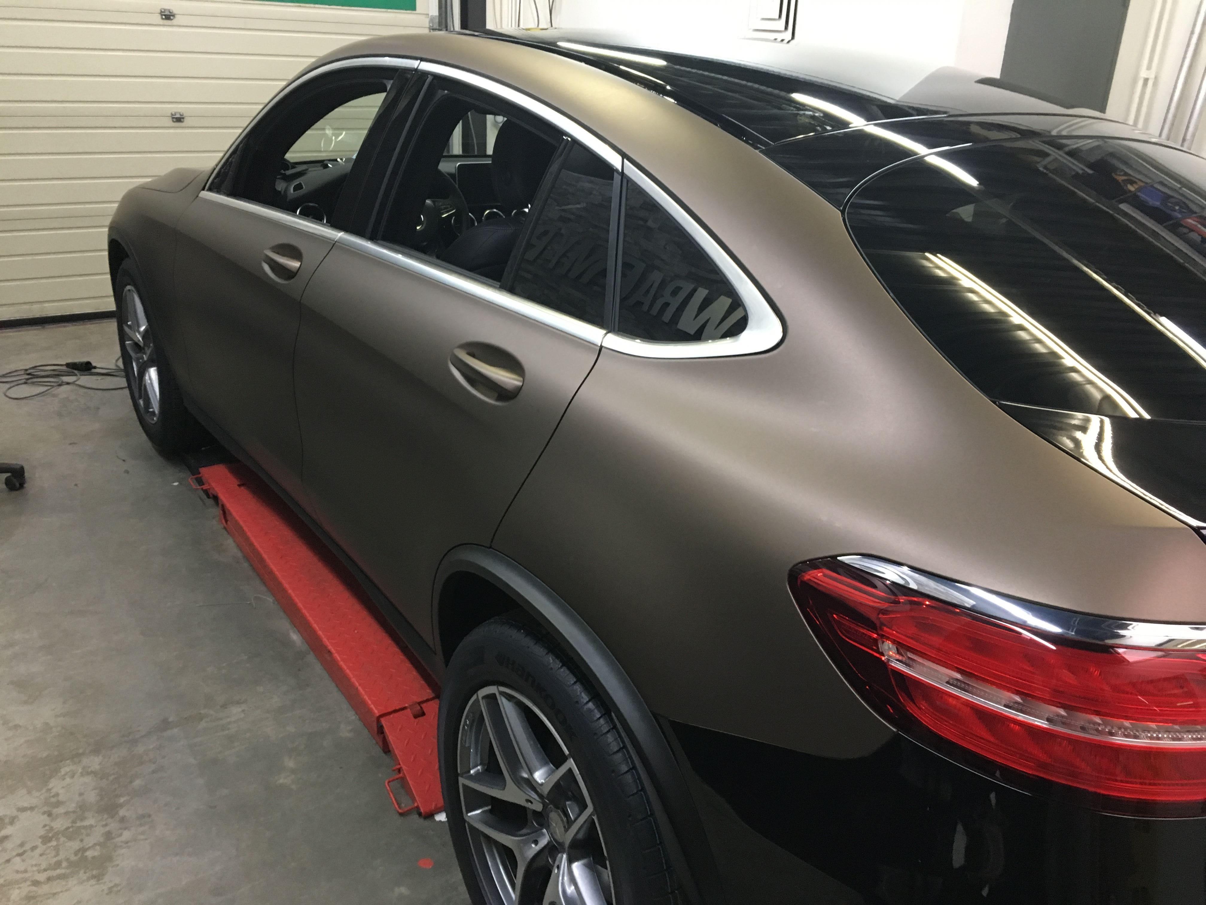 Mercedes GLC Coupe Matte metallic brown, Carwrapping door Wrapmyride.nu Foto-nr:9381, ©2021
