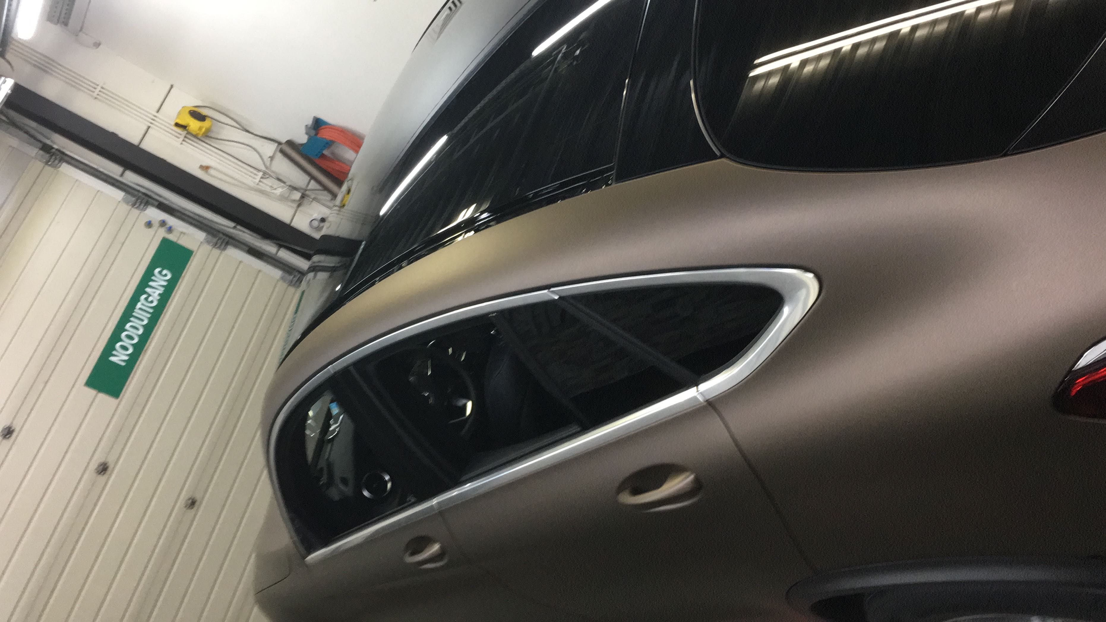 Mercedes GLC Coupe Matte metallic brown, Carwrapping door Wrapmyride.nu Foto-nr:9378, ©2020