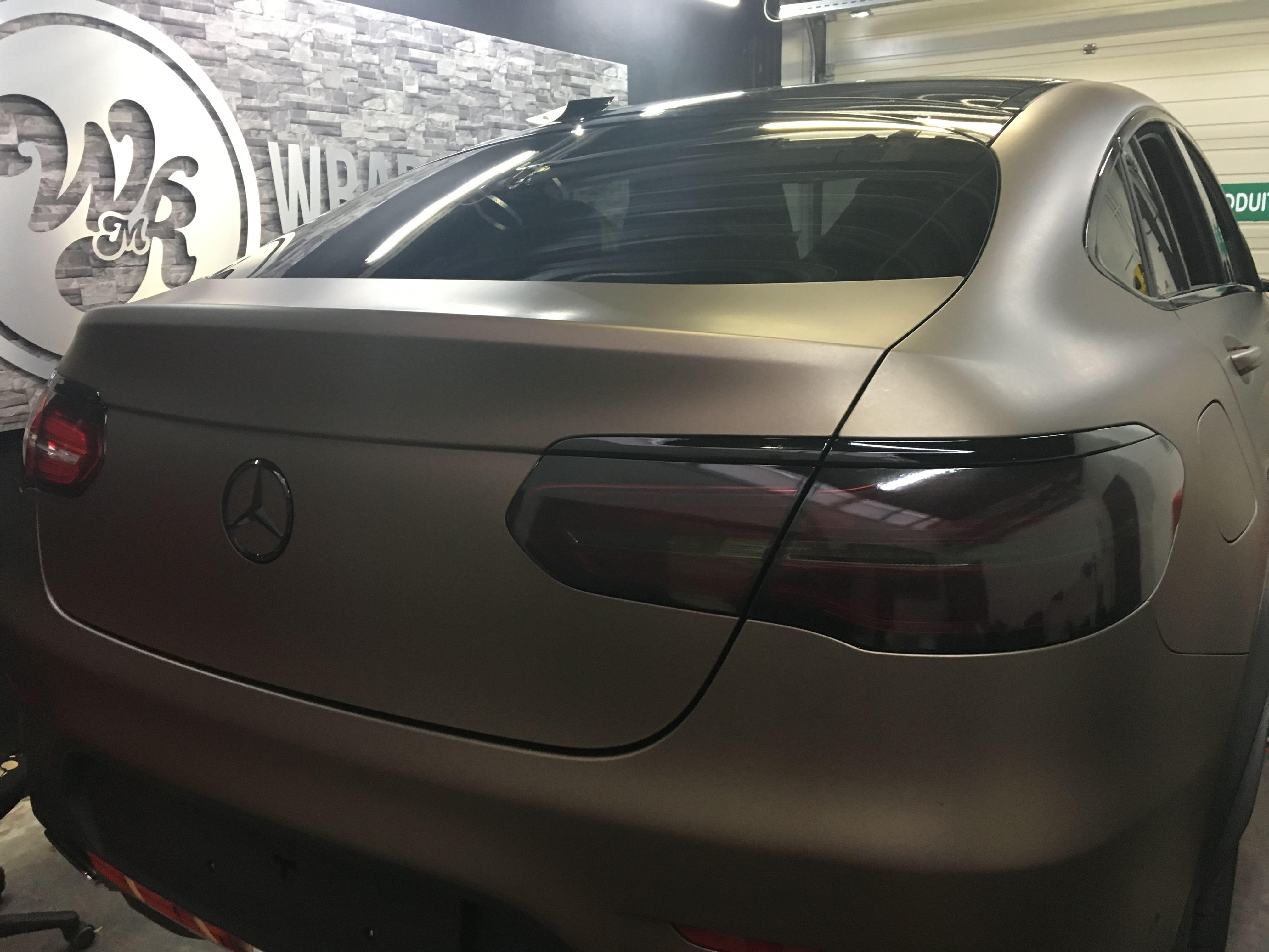 Mercedes GLC Coupe Matte metallic brown, Carwrapping door Wrapmyride.nu Foto-nr:9369, ©2021