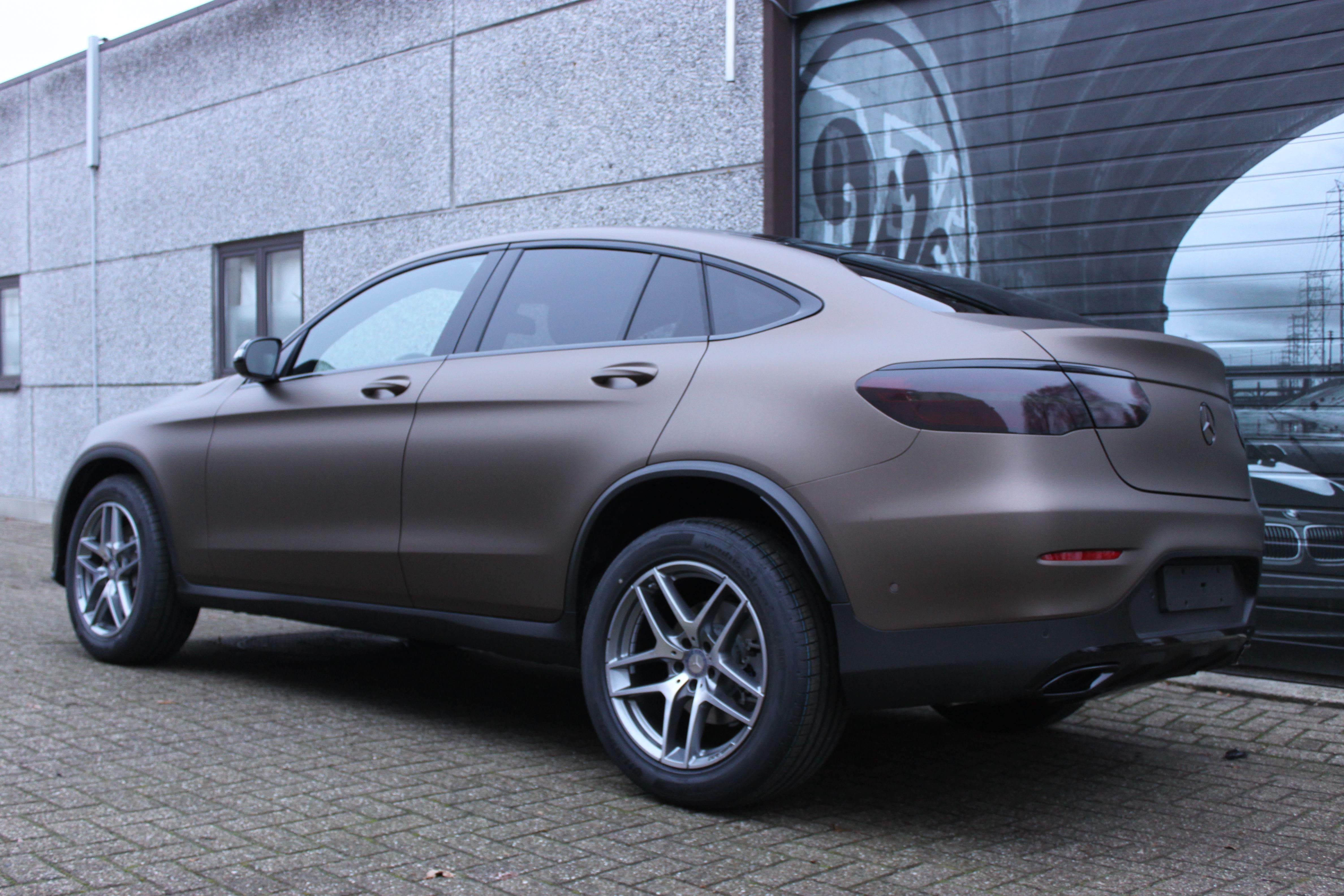Mercedes GLC Coupe Matte metallic brown, Carwrapping door Wrapmyride.nu Foto-nr:9363, ©2021