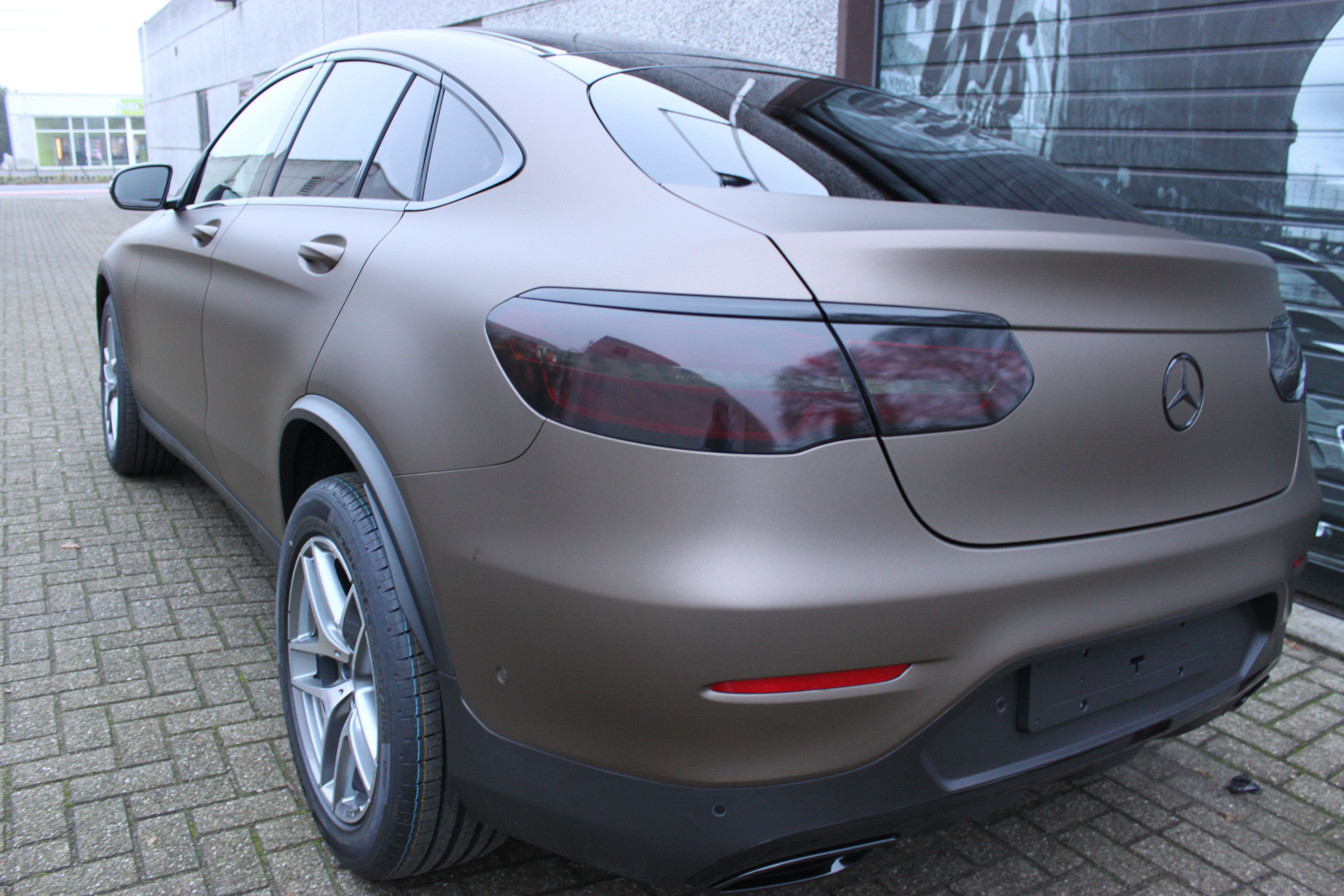 Mercedes GLC Coupe Matte metallic brown, Carwrapping door Wrapmyride.nu Foto-nr:9362, ©2021