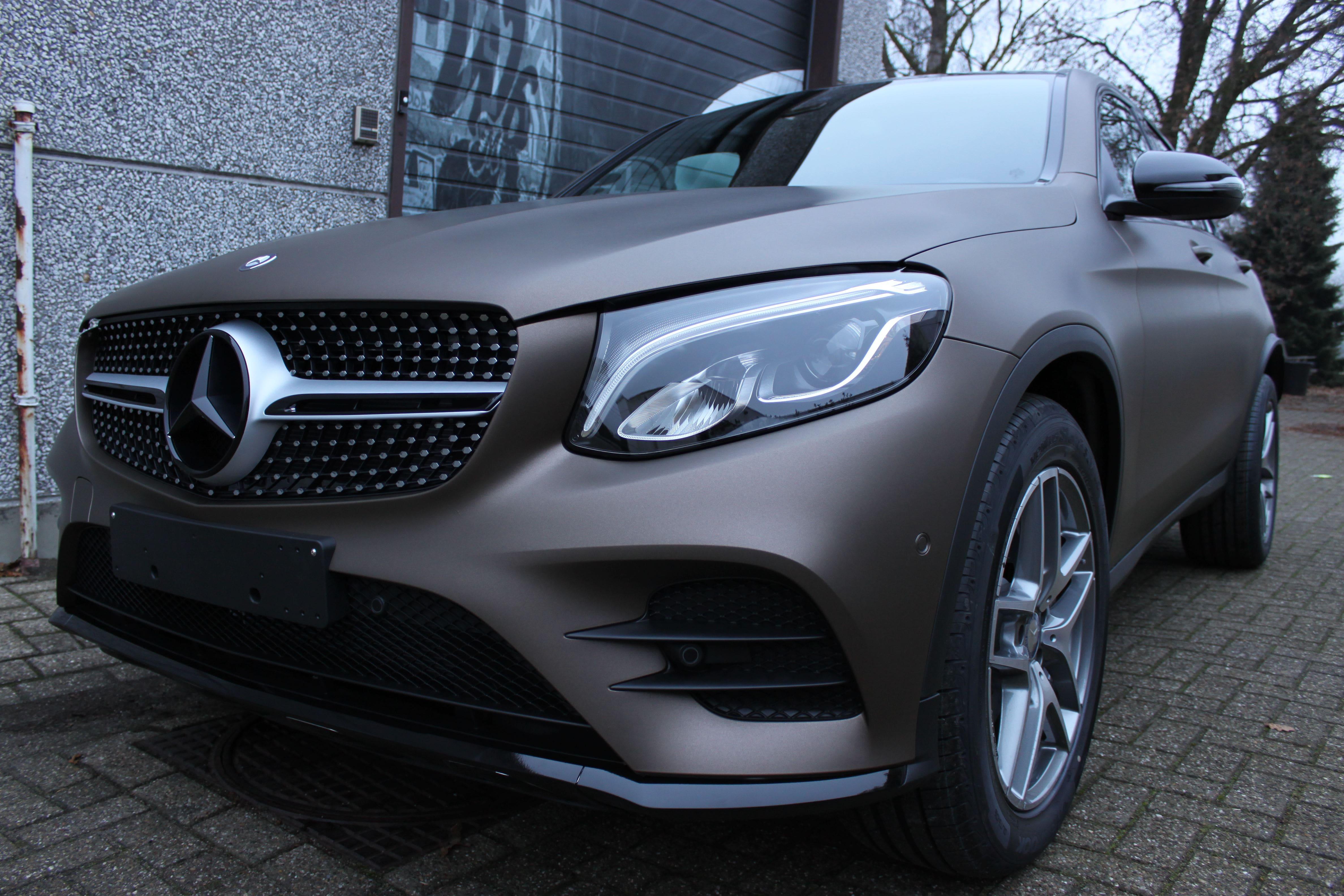 Mercedes GLC Coupe Matte metallic brown, Carwrapping door Wrapmyride.nu Foto-nr:9361, ©2021