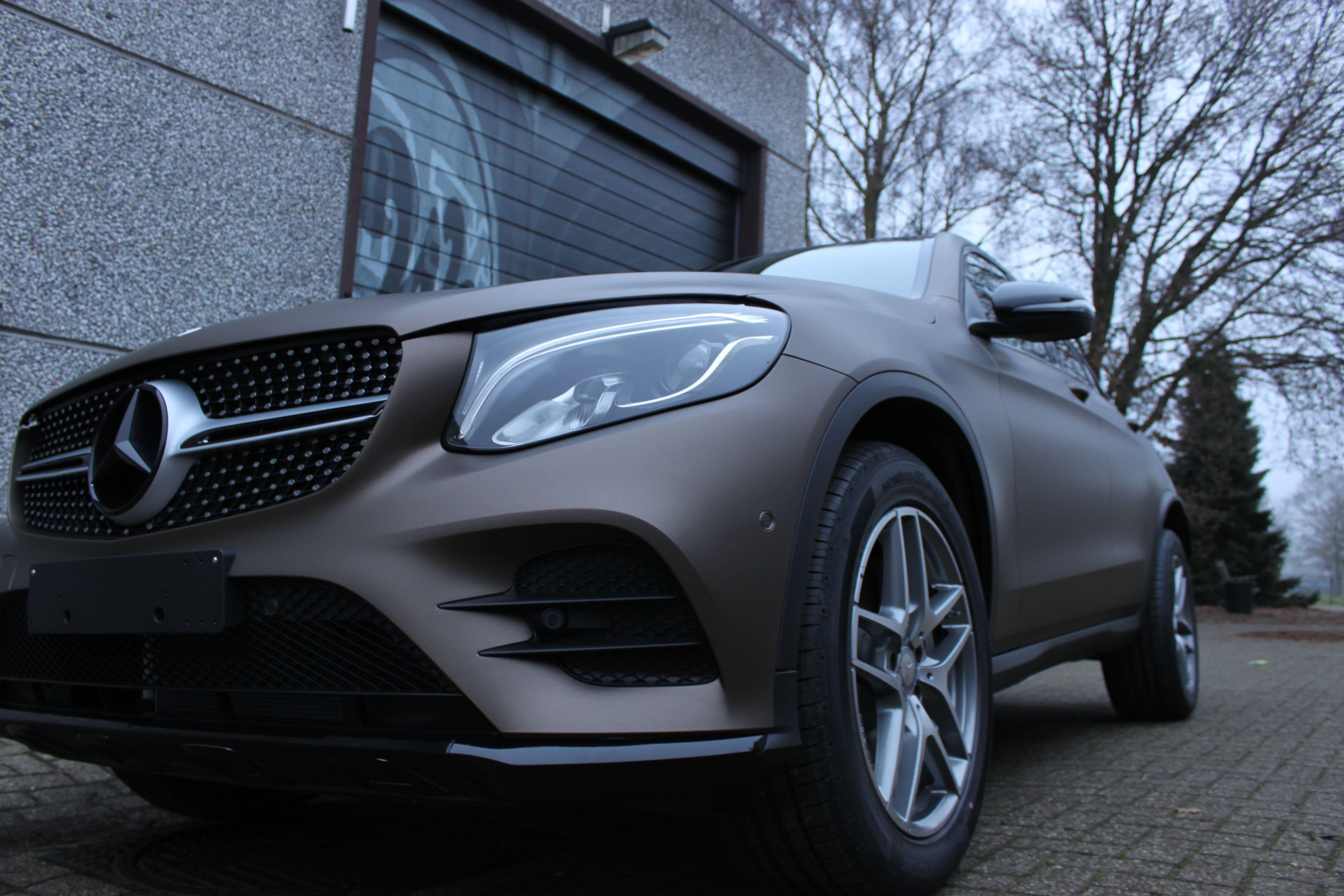 Mercedes GLC Coupe Matte metallic brown, Carwrapping door Wrapmyride.nu Foto-nr:9360, ©2021