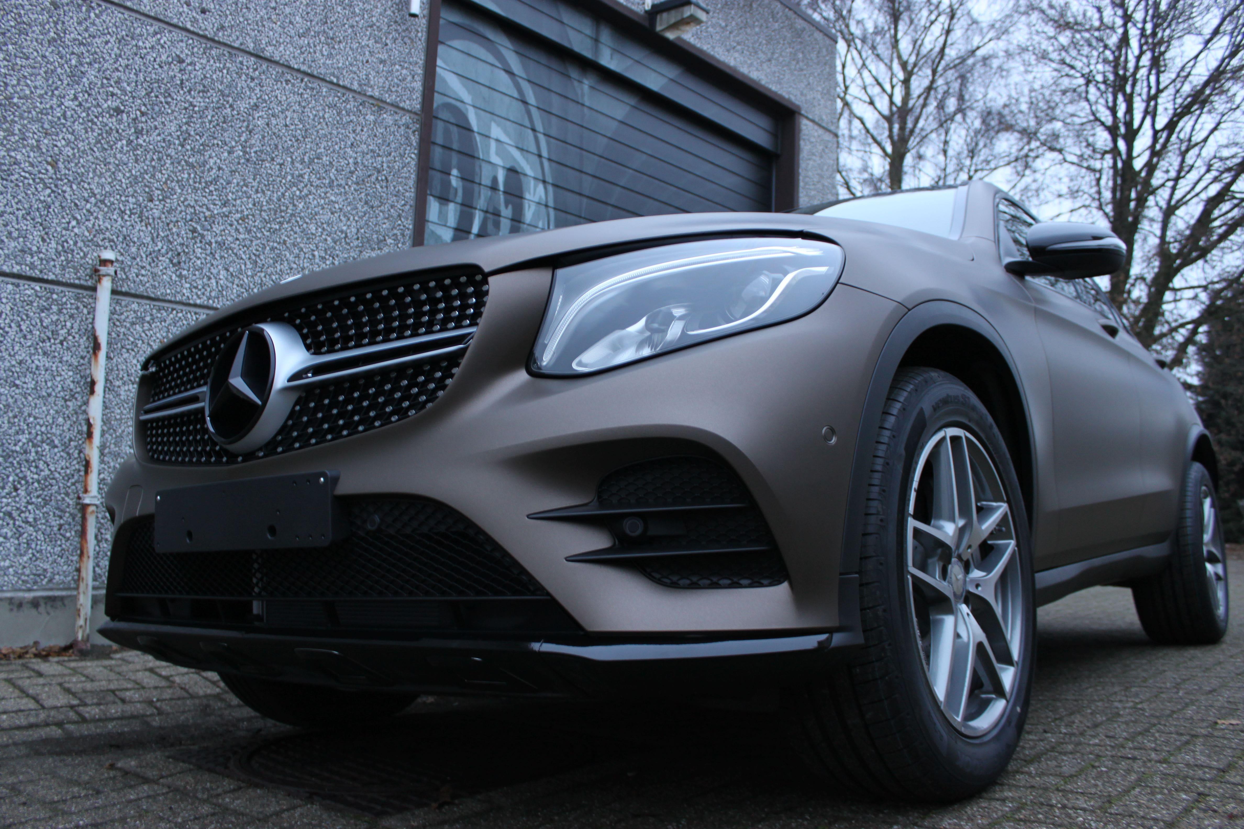 Mercedes GLC Coupe Matte metallic brown, Carwrapping door Wrapmyride.nu Foto-nr:9359, ©2021