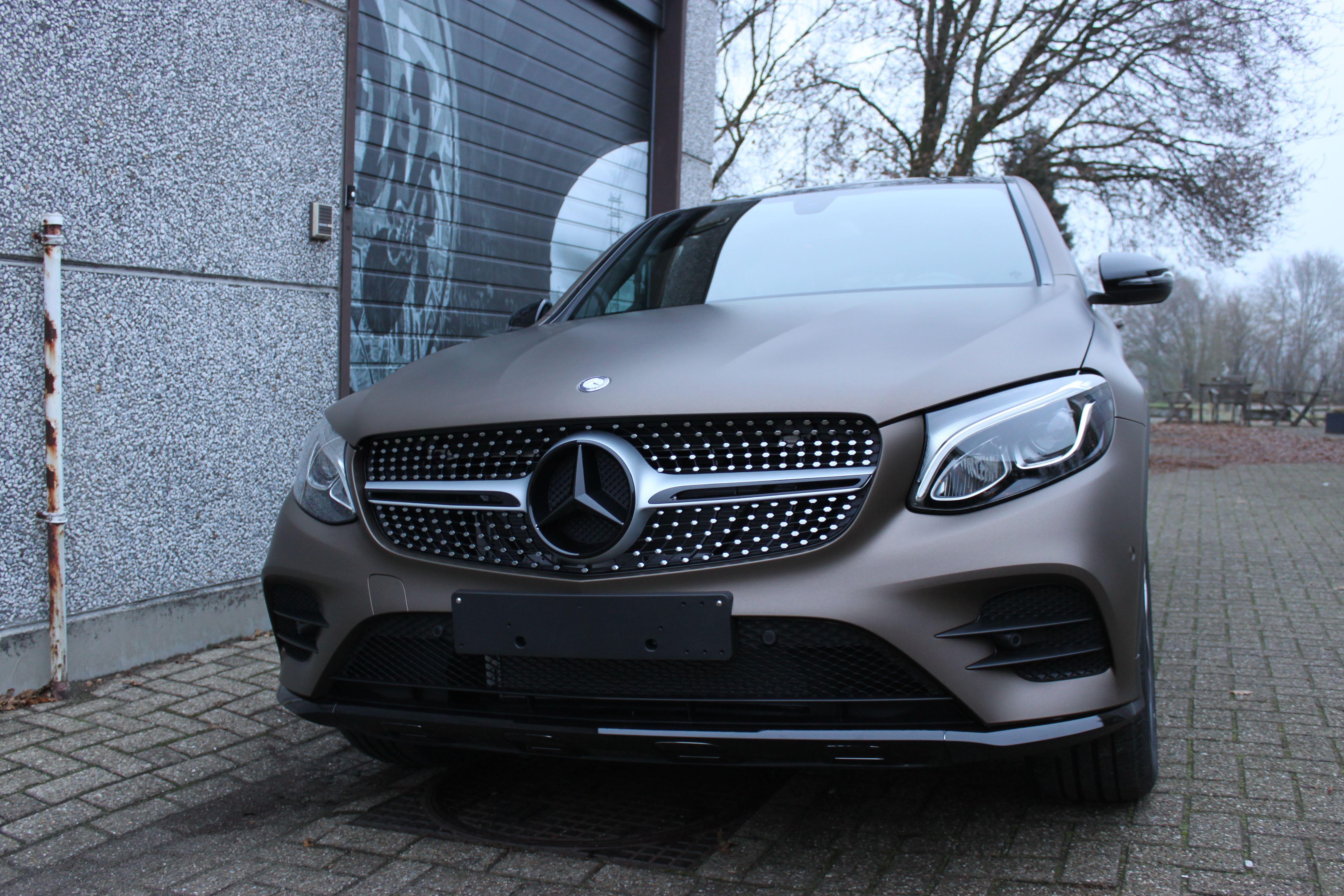 Mercedes GLC Coupe Matte metallic brown, Carwrapping door Wrapmyride.nu Foto-nr:9358, ©2021