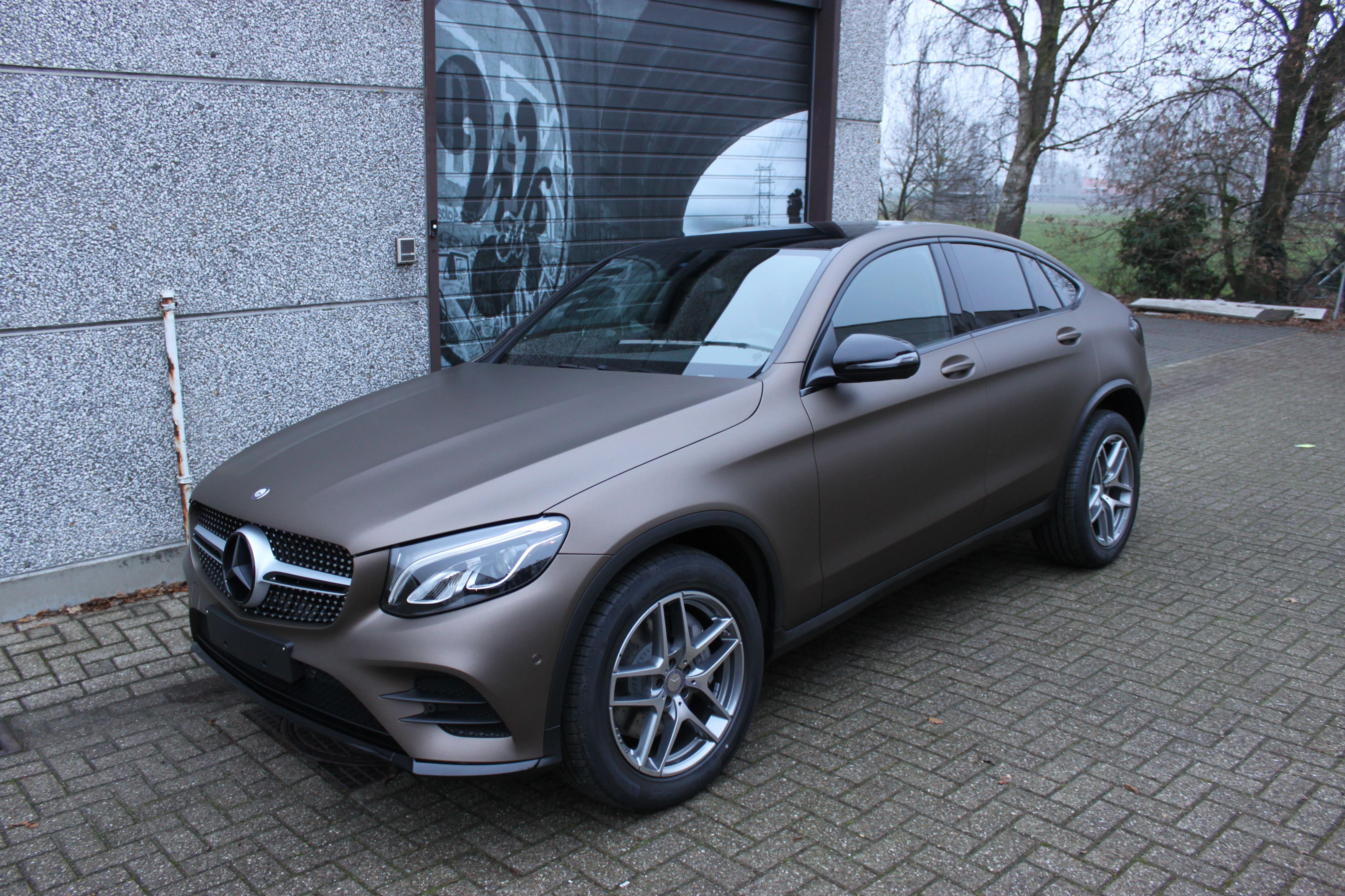 Mercedes GLC Coupe Matte metallic brown, Carwrapping door Wrapmyride.nu Foto-nr:9357, ©2021