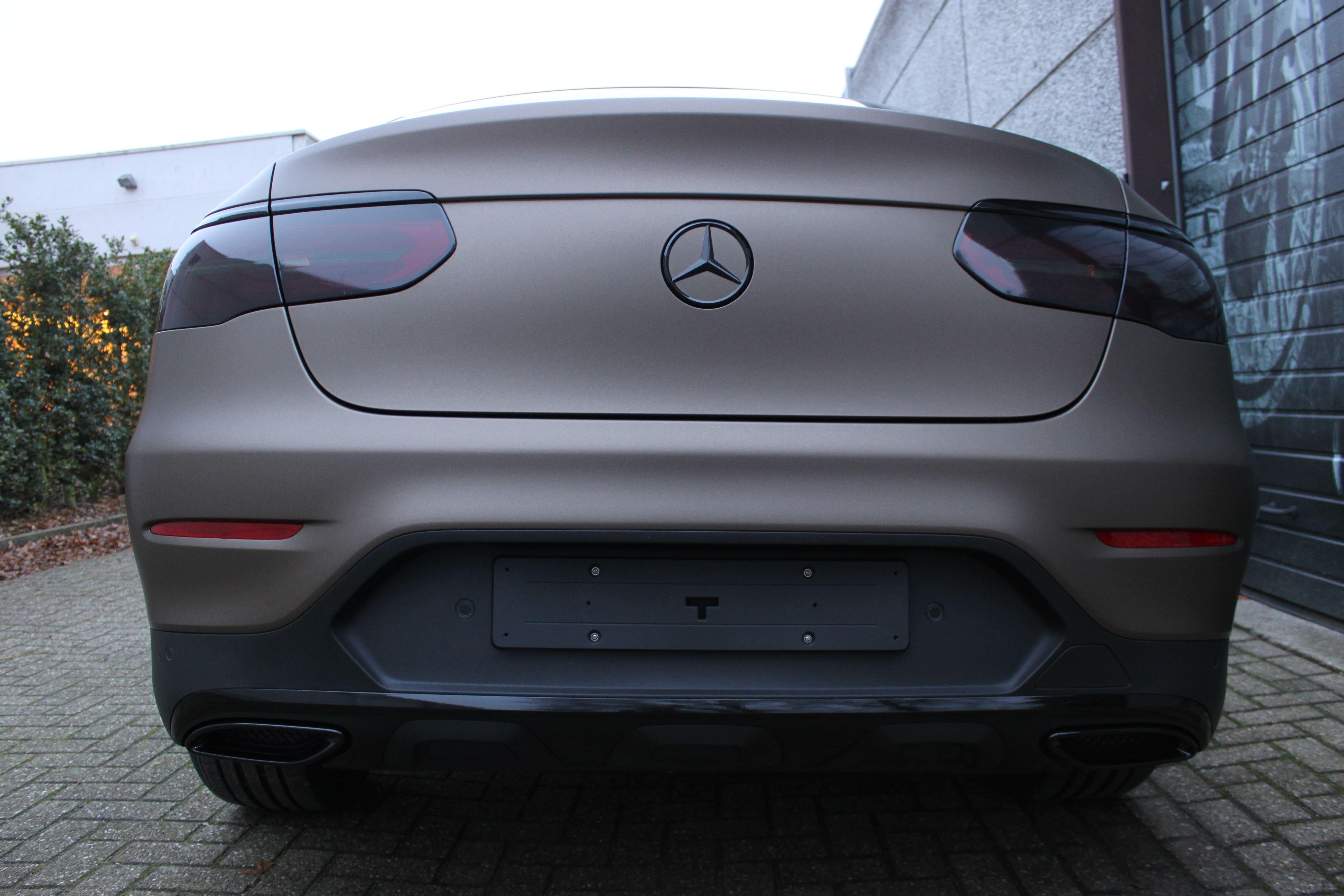 Mercedes GLC Coupe Matte metallic brown, Carwrapping door Wrapmyride.nu Foto-nr:9353, ©2021