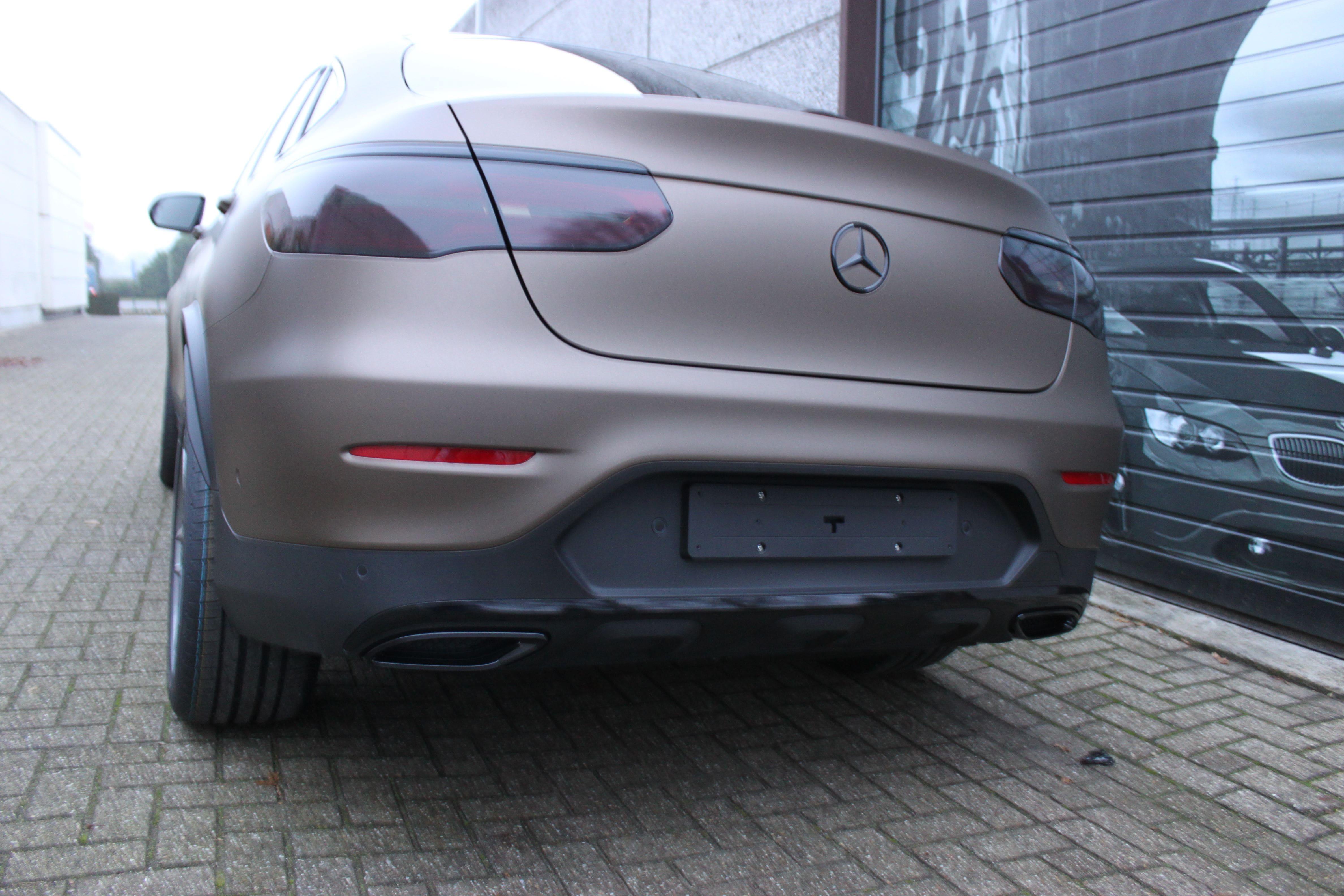 Mercedes GLC Coupe Matte metallic brown, Carwrapping door Wrapmyride.nu Foto-nr:9352, ©2021