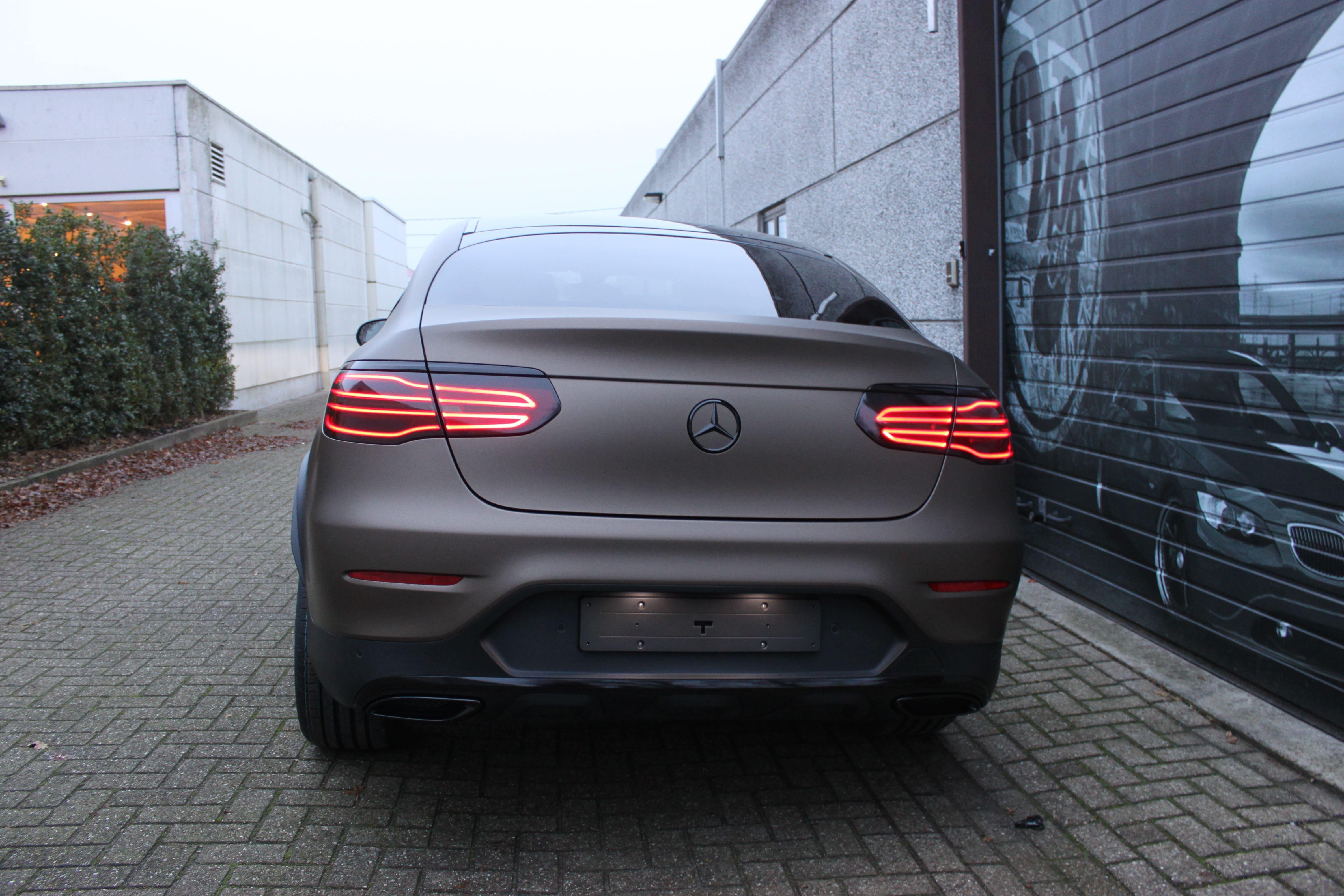 Mercedes GLC Coupe Matte metallic brown, Carwrapping door Wrapmyride.nu Foto-nr:9350, ©2021
