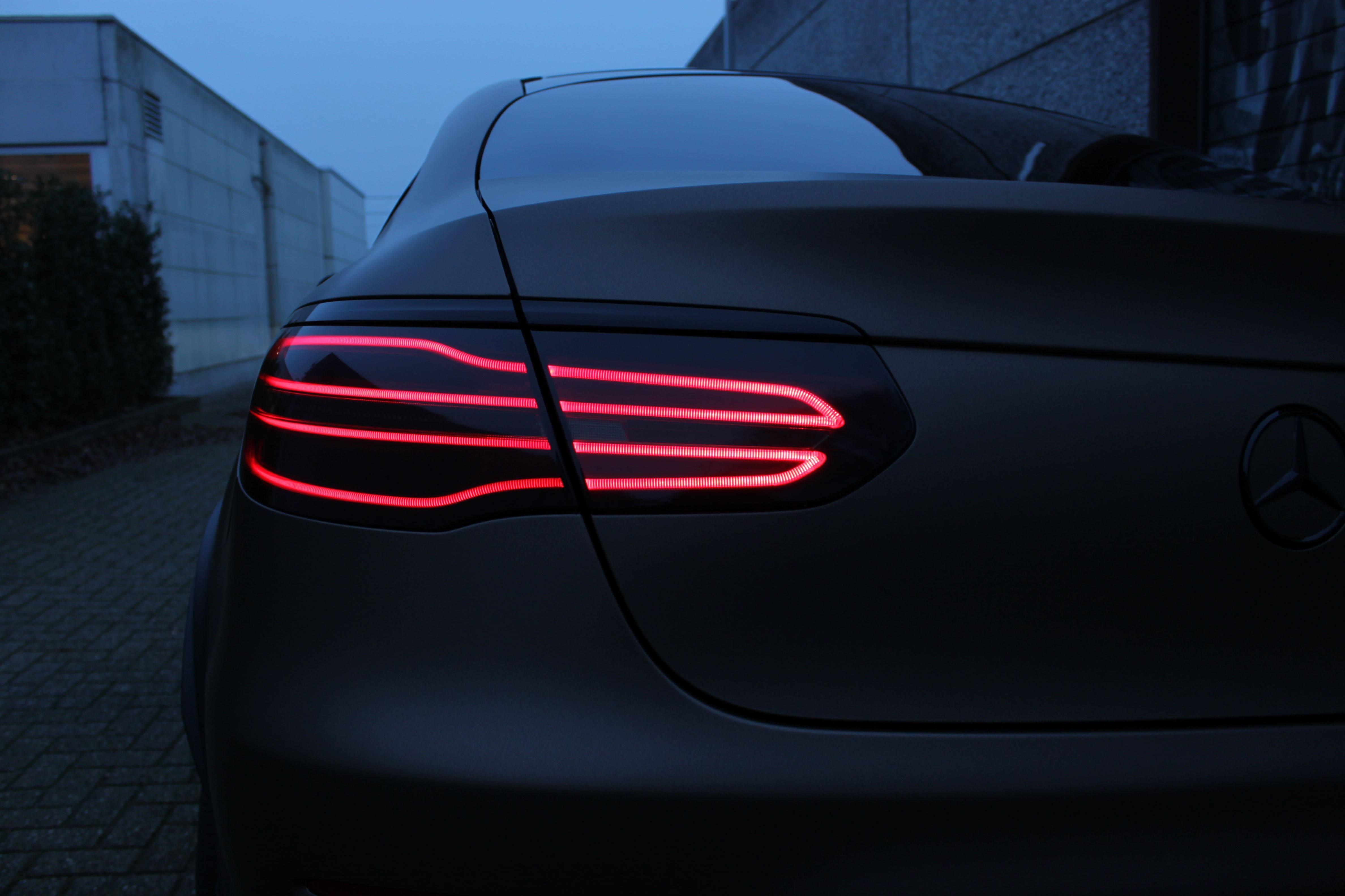 Mercedes GLC Coupe Matte metallic brown, Carwrapping door Wrapmyride.nu Foto-nr:9349, ©2021