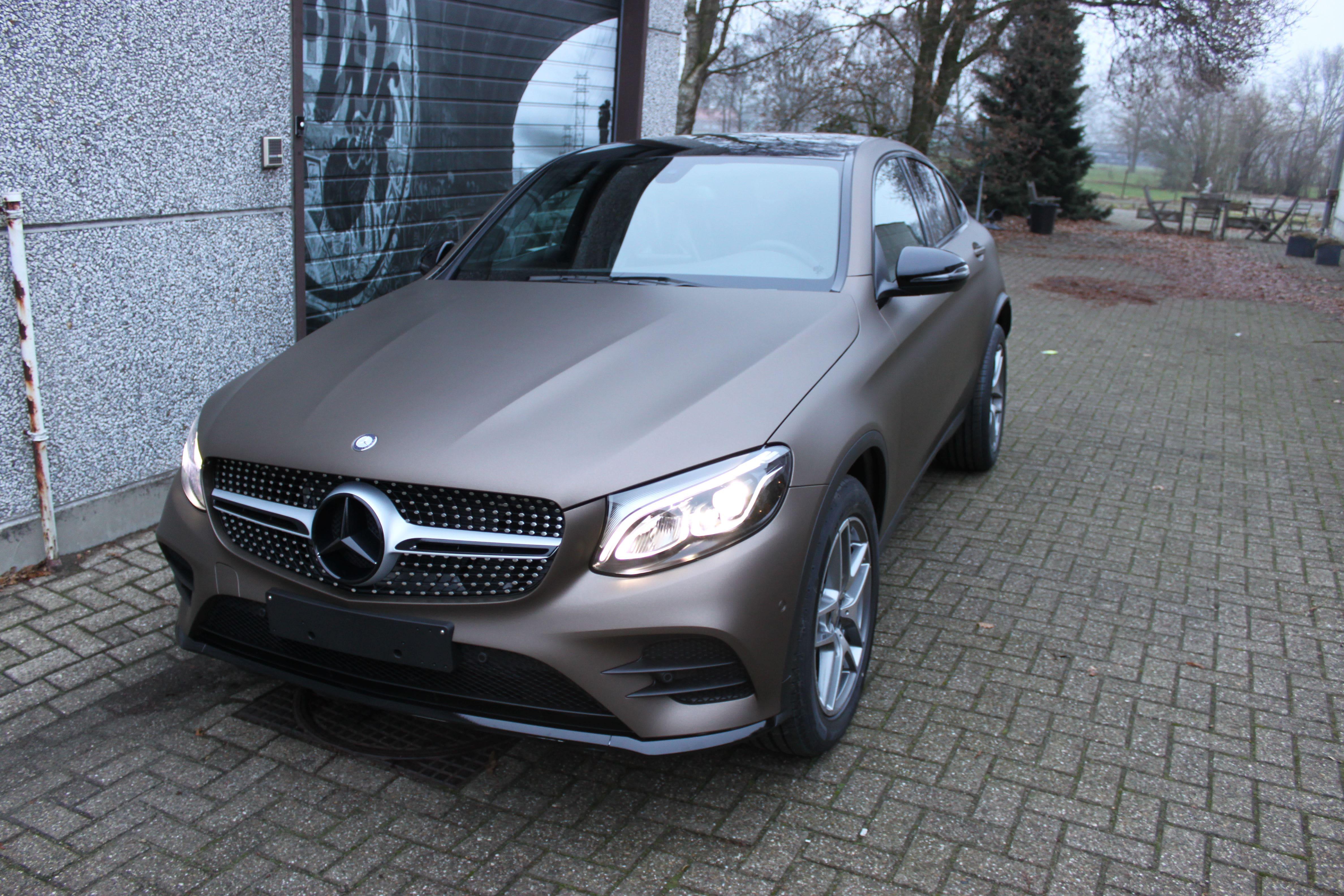 Mercedes GLC Coupe Matte metallic brown, Carwrapping door Wrapmyride.nu Foto-nr:9345, ©2021